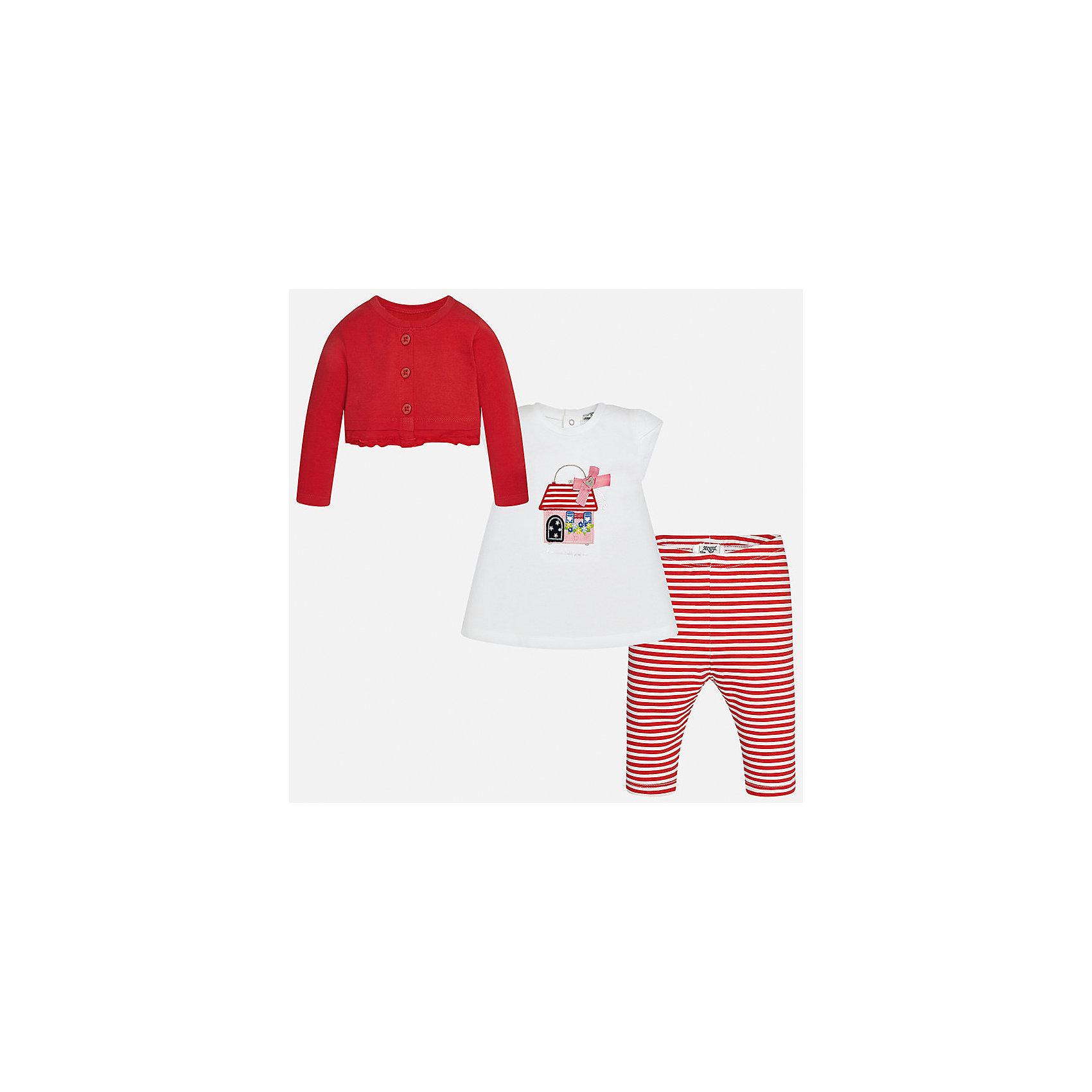Комплект: футбола с длинным рукавом и леггинсы для девочки MayoralКомплекты<br>Комплект: футбола с длинным рукавом и леггинсы для девочки от известной испанской марки Mayoral.<br><br>Ширина мм: 123<br>Глубина мм: 10<br>Высота мм: 149<br>Вес г: 209<br>Цвет: красный<br>Возраст от месяцев: 18<br>Возраст до месяцев: 24<br>Пол: Женский<br>Возраст: Детский<br>Размер: 92,74,80,86<br>SKU: 5289097