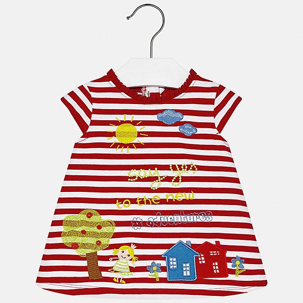 Платье для девочки MayoralПлатья<br>Платье для девочки от известной испанской марки Mayoral.<br>Ширина мм: 236; Глубина мм: 16; Высота мм: 184; Вес г: 177; Цвет: красный; Возраст от месяцев: 6; Возраст до месяцев: 9; Пол: Женский; Возраст: Детский; Размер: 74,92,86,80; SKU: 5289218;