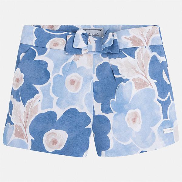 Шорты для девочки MayoralШорты, бриджи, капри<br>Характеристики товара:<br><br>• цвет: голубой принт<br>• состав: 100% хлопок<br>• ткань с принтом<br>• украшены бантом<br>• пояс на резинке<br>• декоративная складка на штанинах<br>• страна бренда: Испания<br><br>Модные легкие шорты для девочки смогут разнообразить гардероб ребенка и украсить наряд. Они отлично сочетаются с майками, футболками, блузками. Красивый оттенок позволяет подобрать к вещи верх разных расцветок. Интересный крой модели делает её нарядной и оригинальной. В составе материала - только натуральный хлопок, гипоаллергенный, приятный на ощупь, дышащий.<br>Одежда, обувь и аксессуары от испанского бренда Mayoral полюбились детям и взрослым по всему миру. Модели этой марки - стильные и удобные. Для их производства используются только безопасные, качественные материалы и фурнитура. Порадуйте ребенка модными и красивыми вещами от Mayoral! <br><br>Шорты для девочки от испанского бренда Mayoral (Майорал) можно купить в нашем интернет-магазине.<br>Ширина мм: 191; Глубина мм: 10; Высота мм: 175; Вес г: 273; Цвет: голубой; Возраст от месяцев: 18; Возраст до месяцев: 24; Пол: Женский; Возраст: Детский; Размер: 92,134,128,122,116,110,104,98; SKU: 5289798;