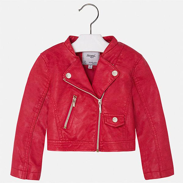 Куртка для девочки MayoralВерхняя одежда<br>Характеристики товара:<br><br>• цвет: красный<br>• состав: 100% полиэстер, верх - 100% полиэстер<br>• косая молния<br>• карманы<br>• с длинными рукавами <br>• плотная ткань<br>• страна бренда: Испания<br><br>Стильная куртка для девочки поможет разнообразить гардероб ребенка и обеспечить тепло в прохладную погоду. Она отлично сочетается и с юбками, и с брюками. Красивый цвет позволяет подобрать к вещи низ различных расцветок. Интересная отделка модели делает её нарядной и стильной. Оригинальной и модной куртку делает косая молния.<br><br>Одежда, обувь и аксессуары от испанского бренда Mayoral полюбились детям и взрослым по всему миру. Модели этой марки - стильные и удобные. Для их производства используются только безопасные, качественные материалы и фурнитура. Порадуйте ребенка модными и красивыми вещами от Mayoral! <br><br>Куртку для девочки от испанского бренда Mayoral (Майорал) можно купить в нашем интернет-магазине.<br><br>Ширина мм: 356<br>Глубина мм: 10<br>Высота мм: 245<br>Вес г: 519<br>Цвет: красный<br>Возраст от месяцев: 60<br>Возраст до месяцев: 72<br>Пол: Женский<br>Возраст: Детский<br>Размер: 116,134,92,98,104,110,122,128<br>SKU: 5290073