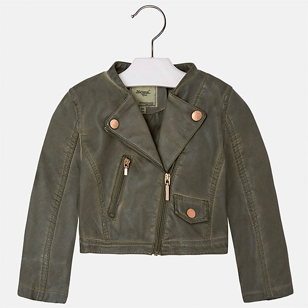 Куртка для девочки MayoralВерхняя одежда<br>Характеристики товара:<br><br>• цвет: хаки<br>• состав: 100% полиэстер, верх - 100% полиэстер<br>• температурный режим от +15°до +10°С<br>• косая молния<br>• карманы<br>• с длинными рукавами <br>• плотная ткань<br>• страна бренда: Испания<br><br>Стильная куртка для девочки поможет разнообразить гардероб ребенка и обеспечить тепло в прохладную погоду. Она отлично сочетается и с юбками, и с брюками. Красивый цвет позволяет подобрать к вещи низ различных расцветок. Интересная отделка модели делает её нарядной и стильной. Оригинальной и модной куртку делает косая молния.<br><br>Одежда, обувь и аксессуары от испанского бренда Mayoral полюбились детям и взрослым по всему миру. Модели этой марки - стильные и удобные. Для их производства используются только безопасные, качественные материалы и фурнитура. Порадуйте ребенка модными и красивыми вещами от Mayoral! <br><br>Куртку для девочки от испанского бренда Mayoral (Майорал) можно купить в нашем интернет-магазине.<br>Ширина мм: 356; Глубина мм: 10; Высота мм: 245; Вес г: 519; Цвет: коричневый; Возраст от месяцев: 96; Возраст до месяцев: 108; Пол: Женский; Возраст: Детский; Размер: 134,92,98,104,110,116,122,128; SKU: 5290082;