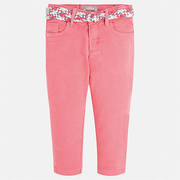 Брюки для девочки MayoralБрюки<br>Характеристики товара:<br><br>• цвет: розовый<br>• состав: 98% хлопок, 2% эластан<br>• шлевки<br>• карманы<br>• пояс с регулировкой объема<br>• яркий оттенок<br>• страна бренда: Испания<br><br>Модные легкие брюки для девочки смогут разнообразить гардероб ребенка и украсить наряд. Они отлично сочетаются с майками, футболками, блузками. Красивый оттенок позволяет подобрать к вещи верх разных расцветок. Интересный крой модели делает её нарядной и оригинальной. В составе материала - натуральный хлопок, гипоаллергенный, приятный на ощупь, дышащий.<br><br>Одежда, обувь и аксессуары от испанского бренда Mayoral полюбились детям и взрослым по всему миру. Модели этой марки - стильные и удобные. Для их производства используются только безопасные, качественные материалы и фурнитура. Порадуйте ребенка модными и красивыми вещами от Mayoral! <br><br>Брюки для девочки от испанского бренда Mayoral (Майорал) можно купить в нашем интернет-магазине.<br>Ширина мм: 215; Глубина мм: 88; Высота мм: 191; Вес г: 336; Цвет: розовый; Возраст от месяцев: 96; Возраст до месяцев: 108; Пол: Женский; Возраст: Детский; Размер: 134,92,98,104,110,116,122,128; SKU: 5290314;