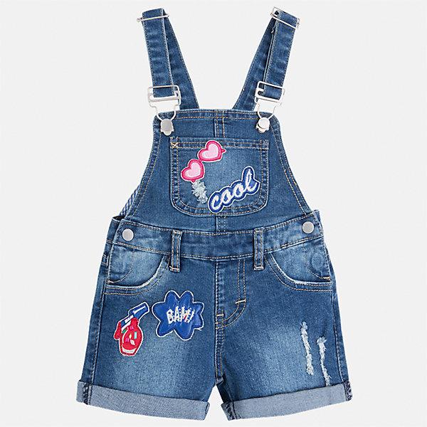 Комбинезон джинсовый для девочки MayoralКомбинезоны<br>Характеристики товара:<br><br>• цвет: синий<br>• состав: верх - 69% хлопок, 29% полиэстер, 2% эластан; подкладка - 93% полиэстер, 7% эластан<br>• шлевки<br>• карманы<br>• лямки с регулировкой объема<br>• декорирован вышивкой<br>• страна бренда: Испания<br><br>Стильный джинсовый комбинезон для девочки поможет разнообразить гардероб ребенка и украсить наряд. Он отлично сочетается с майками, футболками, блузками и т.д. Универсальный цвет позволяет подобрать к вещи верх разных расцветок. Интересная отделка модели делает её нарядной и оригинальной. В составе материала - натуральный хлопок, гипоаллергенный, приятный на ощупь, дышащий.<br><br>Одежда, обувь и аксессуары от испанского бренда Mayoral полюбились детям и взрослым по всему миру. Модели этой марки - стильные и удобные. Для их производства используются только безопасные, качественные материалы и фурнитура. Порадуйте ребенка модными и красивыми вещами от Mayoral! <br><br>Комбинезон для девочки от испанского бренда Mayoral (Майорал) можно купить в нашем интернет-магазине.<br>Ширина мм: 215; Глубина мм: 88; Высота мм: 191; Вес г: 336; Цвет: синий; Возраст от месяцев: 48; Возраст до месяцев: 60; Пол: Женский; Возраст: Детский; Размер: 110,134,92,98,104,116,122,128; SKU: 5290416;