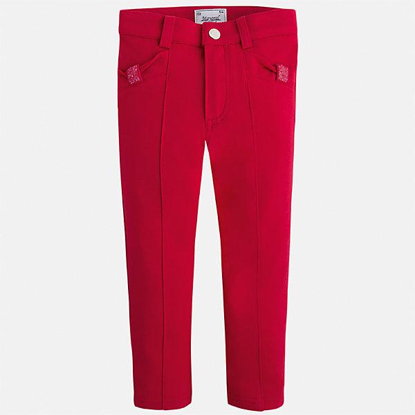 Леггинсы для девочки MayoralЛеггинсы<br>Характеристики товара:<br><br>• цвет: красный<br>• состав: 65% вискоза, 30% полиамид, 5% эластан<br>• шлевки<br>• эластичный материал<br>• стрелки<br>• декоративная отделка карманов<br>• страна бренда: Испания<br><br>Модные брюки для девочки смогут разнообразить гардероб ребенка и украсить наряд. Они отлично сочетаются с майками, футболками, блузками. Красивый оттенок позволяет подобрать к вещи верх разных расцветок. В составе материала - натуральный хлопок, гипоаллергенный, приятный на ощупь, дышащий. Леггинсы отлично сидят и не стесняют движения.<br><br>Одежда, обувь и аксессуары от испанского бренда Mayoral полюбились детям и взрослым по всему миру. Модели этой марки - стильные и удобные. Для их производства используются только безопасные, качественные материалы и фурнитура. Порадуйте ребенка модными и красивыми вещами от Mayoral! <br><br>Брюки для девочки от испанского бренда Mayoral (Майорал) можно купить в нашем интернет-магазине.<br><br>Ширина мм: 123<br>Глубина мм: 10<br>Высота мм: 149<br>Вес г: 209<br>Цвет: красный<br>Возраст от месяцев: 18<br>Возраст до месяцев: 24<br>Пол: Женский<br>Возраст: Детский<br>Размер: 92,134,128,122,116,110,104,98<br>SKU: 5290532