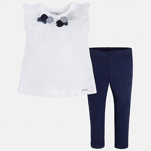 Купить Комплект: футболка и леггинсы для девочки Mayoral, Китай, синий, 110, 116, 104, 98, 92, 134, 128, 122, Женский