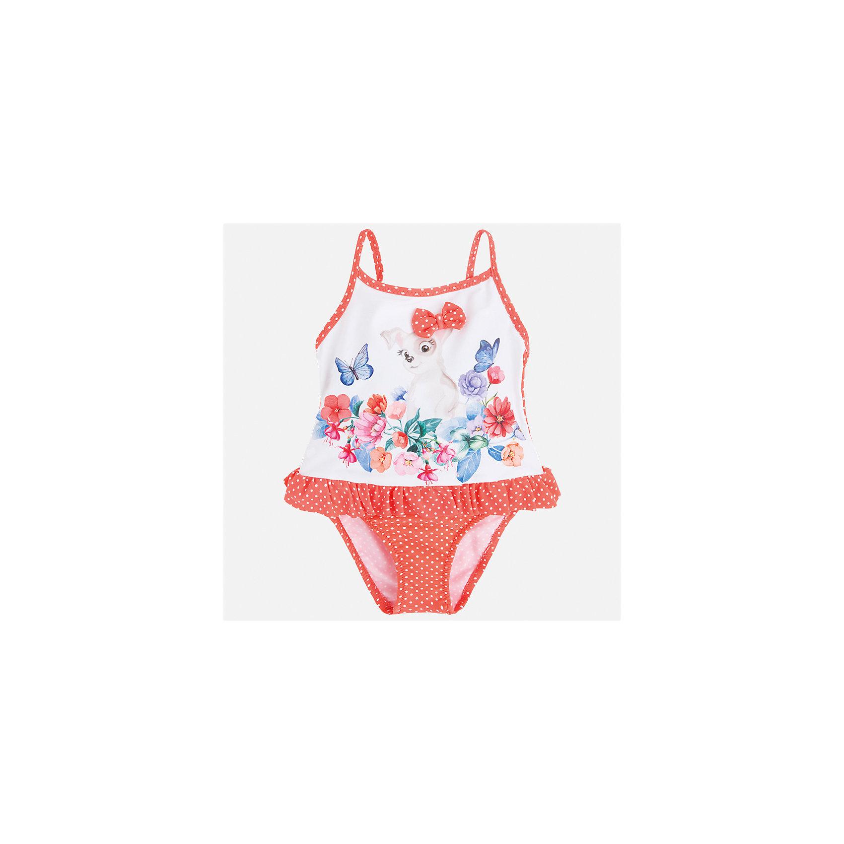 Купальник слитный для девочки MayoralКупальники и плавки<br>Характеристики товара:<br><br>• цвет: красный/белый<br>• состав: верх - 87% полиамид, 13% эластан, подкладка- 100% полиамид<br>• декорирован оборками<br>• с подкладкой<br>• быстросохнущий материал<br>• страна бренда: Испания<br><br>Одежда для купания должна быть удобной! Этот купальник для девочки не только хорошо сидит на ребенке, не стесняя движения и не натирая, он отлично смотрится! Предметы сшиты из плотной ткани, но она очень быстро высыхает. Интересная отделка модели делает её нарядной и оригинальной. <br><br>Одежда, обувь и аксессуары от испанского бренда Mayoral полюбились детям и взрослым по всему миру. Модели этой марки - стильные и удобные. Для их производства используются только безопасные, качественные материалы и фурнитура. Порадуйте ребенка модными и красивыми вещами от Mayoral! <br><br>Купальник для девочки от испанского бренда Mayoral (Майорал) можно купить в нашем интернет-магазине.<br><br>Ширина мм: 183<br>Глубина мм: 60<br>Высота мм: 135<br>Вес г: 119<br>Цвет: красный<br>Возраст от месяцев: 72<br>Возраст до месяцев: 84<br>Пол: Женский<br>Возраст: Детский<br>Размер: 122,92,98,104,110,116<br>SKU: 5290811