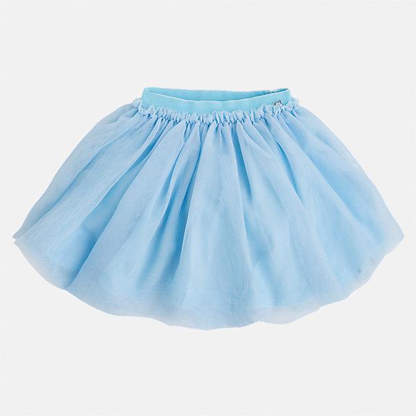 Юбка для девочки MayoralЮбки<br>Характеристики товара:<br><br>• цвет: голубой<br>• состав: 100% полиэстер, подкладка - 100% хлопок<br>• пояс на резинке<br>• легкий материал<br>• с подкладкой<br>• объемная<br>• страна бренда: Испания<br><br>Легкая юбка для девочки поможет разнообразить гардероб ребенка и создать эффектный наряд. Она отлично сочетаются с майками, футболками, блузками. Красивый оттенок позволяет подобрать к вещи верх разных расцветок. В составе материала подкладки - натуральный хлопок, гипоаллергенный, приятный на ощупь, дышащий. Юбка отлично сидит и не стесняет движения.<br><br>Одежда, обувь и аксессуары от испанского бренда Mayoral полюбились детям и взрослым по всему миру. Модели этой марки - стильные и удобные. Для их производства используются только безопасные, качественные материалы и фурнитура. Порадуйте ребенка модными и красивыми вещами от Mayoral! <br><br>Юбку для девочки от испанского бренда Mayoral (Майорал) можно купить в нашем интернет-магазине.<br>Ширина мм: 207; Глубина мм: 10; Высота мм: 189; Вес г: 183; Цвет: зеленый; Возраст от месяцев: 18; Возраст до месяцев: 24; Пол: Женский; Возраст: Детский; Размер: 92,134,128,122,116,110,104,98; SKU: 5290921;