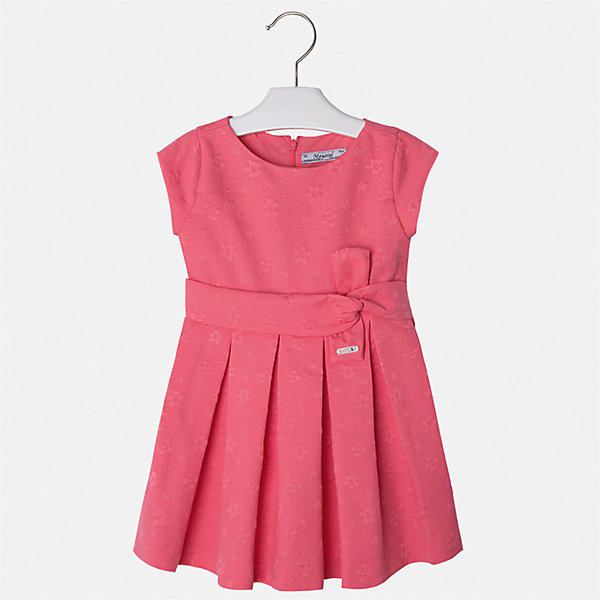 Платье для девочки MayoralОдежда<br>Характеристики товара:<br><br>• цвет: красный<br>• состав: 38% полиэстер, 62% хлопок, подкладка - 65% полиэстер, 35% хлопок<br>• застежка: молния<br>• складки<br>• украшено бантом на поясе<br>• без рукавов<br>• с подкладкой<br>• страна бренда: Испания<br><br>Красивое легкое платье для девочки поможет разнообразить гардероб ребенка и создать эффектный наряд. Оно подойдет и для торжественных случаев, может быть и как ежедневный наряд. Красивый оттенок позволяет подобрать к вещи обувь разных расцветок. В составе материала - натуральный хлопок, гипоаллергенный, приятный на ощупь, дышащий. Платье хорошо сидит по фигуре.<br><br>Одежда, обувь и аксессуары от испанского бренда Mayoral полюбились детям и взрослым по всему миру. Модели этой марки - стильные и удобные. Для их производства используются только безопасные, качественные материалы и фурнитура. Порадуйте ребенка модными и красивыми вещами от Mayoral! <br><br>Платье для девочки от испанского бренда Mayoral (Майорал) можно купить в нашем интернет-магазине.<br><br>Ширина мм: 236<br>Глубина мм: 16<br>Высота мм: 184<br>Вес г: 177<br>Цвет: оранжевый<br>Возраст от месяцев: 18<br>Возраст до месяцев: 24<br>Пол: Женский<br>Возраст: Детский<br>Размер: 92,134,128,122,116,110,104,98<br>SKU: 5290973