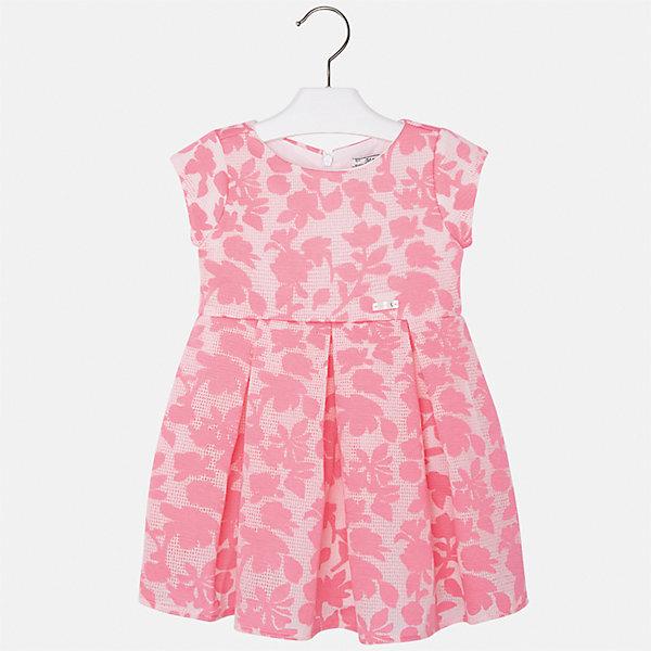 Платье для девочки MayoralЛетние платья и сарафаны<br>Характеристики товара:<br><br>• цвет: розовый<br>• состав: 64% полиэстер, 36% вискоза, подкладка - 80% полиэстер, 20% хлопок<br>• застежка: молния<br>• легкий материал<br>• набивной рисунок<br>• короткие рукава<br>• с подкладкой<br>• страна бренда: Испания<br><br>Красивое легкое платье для девочки поможет разнообразить гардероб ребенка и создать эффектный наряд. Оно подойдет и для торжественных случаев, может быть и как ежедневный наряд. В составе материала подкладки - натуральный хлопок, гипоаллергенный, приятный на ощупь, дышащий. Платье хорошо сидит по фигуре.<br><br>Платье для девочки от испанского бренда Mayoral (Майорал) можно купить в нашем интернет-магазине.<br>Ширина мм: 236; Глубина мм: 16; Высота мм: 184; Вес г: 177; Цвет: оранжевый; Возраст от месяцев: 48; Возраст до месяцев: 60; Пол: Женский; Возраст: Детский; Размер: 110,104,98,134,128,122,116; SKU: 5290999;