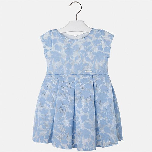 Платье для девочки MayoralОдежда<br>Характеристики товара:<br><br>• цвет: голубой<br>• состав: 64% полиэстер, 36% вискоза, подкладка - 80% полиэстер, 20% хлопок<br>• застежка: молния<br>• легкий материал<br>• набивной рисунок<br>• короткие рукава<br>• с подкладкой<br>• страна бренда: Испания<br><br>Красивое легкое платье для девочки поможет разнообразить гардероб ребенка и создать эффектный наряд. Оно подойдет и для торжественных случаев, может быть и как ежедневный наряд. Красивый оттенок позволяет подобрать к вещи обувь разных расцветок. В составе материала подкладки - натуральный хлопок, гипоаллергенный, приятный на ощупь, дышащий. Платье хорошо сидит по фигуре.<br><br>Одежда, обувь и аксессуары от испанского бренда Mayoral полюбились детям и взрослым по всему миру. Модели этой марки - стильные и удобные. Для их производства используются только безопасные, качественные материалы и фурнитура. Порадуйте ребенка модными и красивыми вещами от Mayoral! <br><br>Платье для девочки от испанского бренда Mayoral (Майорал) можно купить в нашем интернет-магазине.<br><br>Ширина мм: 236<br>Глубина мм: 16<br>Высота мм: 184<br>Вес г: 177<br>Цвет: голубой<br>Возраст от месяцев: 24<br>Возраст до месяцев: 36<br>Пол: Женский<br>Возраст: Детский<br>Размер: 98,134,128,122,116,110,104<br>SKU: 5291007