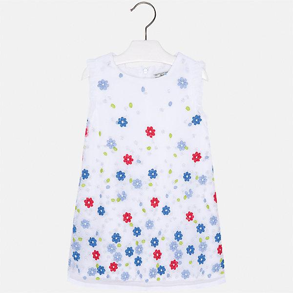 Платье для девочки MayoralПлатья и сарафаны<br>Характеристики товара:<br><br>• цвет: белый<br>• состав: 100% полиэстер, подкладка - 80% полиэстер, 20% хлопок<br>• застежка: молния<br>• легкий материал<br>• цветочный рисунок<br>• без рукавов<br>• с подкладкой<br>• страна бренда: Испания<br><br>Красивое легкое платье для девочки поможет разнообразить гардероб ребенка и создать эффектный наряд. Оно подойдет и для торжественных случаев, может быть и как ежедневный наряд. В составе материала подкладки - натуральный хлопок, гипоаллергенный, приятный на ощупь, дышащий. Платье хорошо сидит по фигуре.<br><br>Платье для девочки от испанского бренда Mayoral (Майорал) можно купить в нашем интернет-магазине.<br><br>Ширина мм: 236<br>Глубина мм: 16<br>Высота мм: 184<br>Вес г: 177<br>Цвет: красный<br>Возраст от месяцев: 24<br>Возраст до месяцев: 36<br>Пол: Женский<br>Возраст: Детский<br>Размер: 98,134,128,122,116,110,104<br>SKU: 5291033
