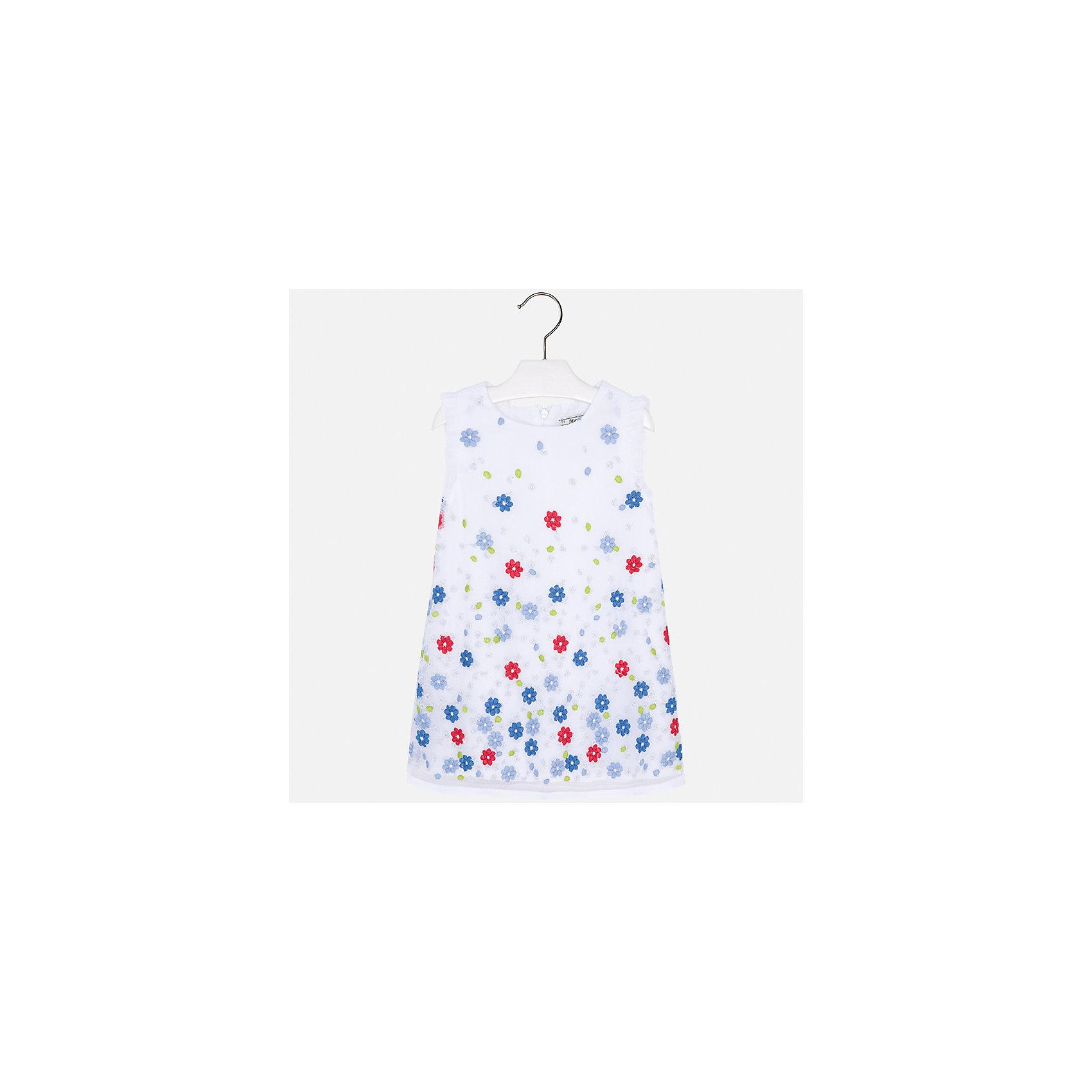 Платье для девочки MayoralПлатья и сарафаны<br>Характеристики товара:<br><br>• цвет: белый<br>• состав: 100% полиэстер, подкладка - 80% полиэстер, 20% хлопок<br>• застежка: молния<br>• легкий материал<br>• цветочный рисунок<br>• без рукавов<br>• с подкладкой<br>• страна бренда: Испания<br><br>Красивое легкое платье для девочки поможет разнообразить гардероб ребенка и создать эффектный наряд. Оно подойдет и для торжественных случаев, может быть и как ежедневный наряд. В составе материала подкладки - натуральный хлопок, гипоаллергенный, приятный на ощупь, дышащий. Платье хорошо сидит по фигуре.<br><br>Платье для девочки от испанского бренда Mayoral (Майорал) можно купить в нашем интернет-магазине.<br><br>Ширина мм: 236<br>Глубина мм: 16<br>Высота мм: 184<br>Вес г: 177<br>Цвет: красный<br>Возраст от месяцев: 24<br>Возраст до месяцев: 36<br>Пол: Женский<br>Возраст: Детский<br>Размер: 98,134,104,110,116,122,128<br>SKU: 5291033