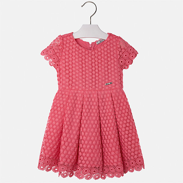 Платье для девочки MayoralОдежда<br>Характеристики товара:<br><br>• цвет: оранжевый<br>• состав: 100% полиэстер, подкладка - 80% полиэстер, 20% хлопок<br>• застежка: молния<br>• легкий материал<br>• ажурная ткань верха<br>• короткие рукава<br>• с подкладкой<br>• страна бренда: Испания<br><br>Красивое легкое платье для девочки поможет разнообразить гардероб ребенка и создать эффектный наряд. Оно подойдет и для торжественных случаев, может быть и как ежедневный наряд. Красивый оттенок позволяет подобрать к вещи обувь разных расцветок. В составе материала подкладки - натуральный хлопок, гипоаллергенный, приятный на ощупь, дышащий. Платье хорошо сидит по фигуре.<br><br>Одежда, обувь и аксессуары от испанского бренда Mayoral полюбились детям и взрослым по всему миру. Модели этой марки - стильные и удобные. Для их производства используются только безопасные, качественные материалы и фурнитура. Порадуйте ребенка модными и красивыми вещами от Mayoral! <br><br>Платье для девочки от испанского бренда Mayoral (Майорал) можно купить в нашем интернет-магазине.<br><br>Ширина мм: 236<br>Глубина мм: 16<br>Высота мм: 184<br>Вес г: 177<br>Цвет: оранжевый<br>Возраст от месяцев: 24<br>Возраст до месяцев: 36<br>Пол: Женский<br>Возраст: Детский<br>Размер: 98,134,128,122,116,110,104<br>SKU: 5291068