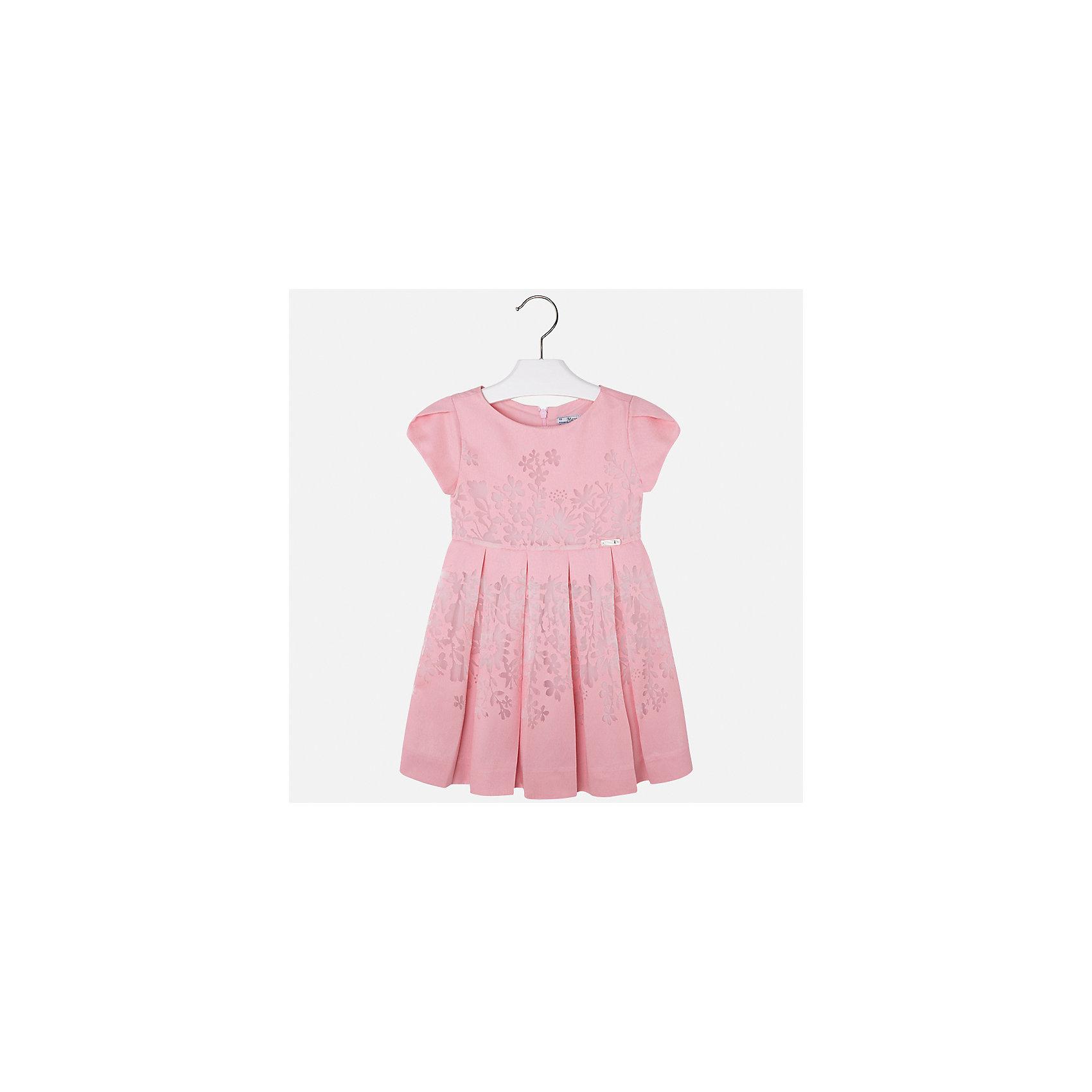 Платье для девочки MayoralОдежда<br>Характеристики товара:<br><br>• цвет: розовый<br>• состав: 80% вискоза, 20% полиэстер, подкладка - 65% полиэстер, 35% хлопок<br>• застежка: молния<br>• легкий материал<br>• цветочный рисунок<br>• без рукавов<br>• с подкладкой<br>• страна бренда: Испания<br><br>Красивое легкое платье для девочки поможет разнообразить гардероб ребенка и создать эффектный наряд. Оно подойдет и для торжественных случаев, может быть и как ежедневный наряд. Красивый оттенок позволяет подобрать к вещи обувь разных расцветок. В составе материала подкладки - натуральный хлопок, гипоаллергенный, приятный на ощупь, дышащий. Платье хорошо сидит по фигуре.<br><br>Одежда, обувь и аксессуары от испанского бренда Mayoral полюбились детям и взрослым по всему миру. Модели этой марки - стильные и удобные. Для их производства используются только безопасные, качественные материалы и фурнитура. Порадуйте ребенка модными и красивыми вещами от Mayoral! <br><br>Платье для девочки от испанского бренда Mayoral (Майорал) можно купить в нашем интернет-магазине.<br><br>Ширина мм: 236<br>Глубина мм: 16<br>Высота мм: 184<br>Вес г: 177<br>Цвет: разноцветный<br>Возраст от месяцев: 96<br>Возраст до месяцев: 108<br>Пол: Женский<br>Возраст: Детский<br>Размер: 104,110,116,122,128,134,98<br>SKU: 5291084