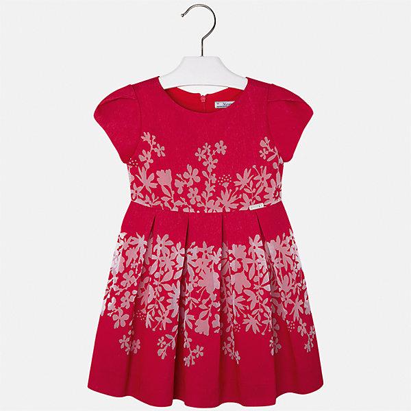 Платье для девочки MayoralОдежда<br>Характеристики товара:<br><br>• цвет: красный<br>• состав: 80% вискоза, 20% полиэстер, подкладка - 65% полиэстер, 35% хлопок<br>• застежка: молния<br>• легкий материал<br>• цветочный рисунок<br>• без рукавов<br>• с подкладкой<br>• страна бренда: Испания<br><br>Красивое легкое платье для девочки поможет разнообразить гардероб ребенка и создать эффектный наряд. Оно подойдет и для торжественных случаев, может быть и как ежедневный наряд. Красивый оттенок позволяет подобрать к вещи обувь разных расцветок. В составе материала подкладки - натуральный хлопок, гипоаллергенный, приятный на ощупь, дышащий. Платье хорошо сидит по фигуре.<br><br>Одежда, обувь и аксессуары от испанского бренда Mayoral полюбились детям и взрослым по всему миру. Модели этой марки - стильные и удобные. Для их производства используются только безопасные, качественные материалы и фурнитура. Порадуйте ребенка модными и красивыми вещами от Mayoral! <br><br>Платье для девочки от испанского бренда Mayoral (Майорал) можно купить в нашем интернет-магазине.<br><br>Ширина мм: 236<br>Глубина мм: 16<br>Высота мм: 184<br>Вес г: 177<br>Цвет: красный<br>Возраст от месяцев: 24<br>Возраст до месяцев: 36<br>Пол: Женский<br>Возраст: Детский<br>Размер: 98,134,128,122,116,110,104<br>SKU: 5291092