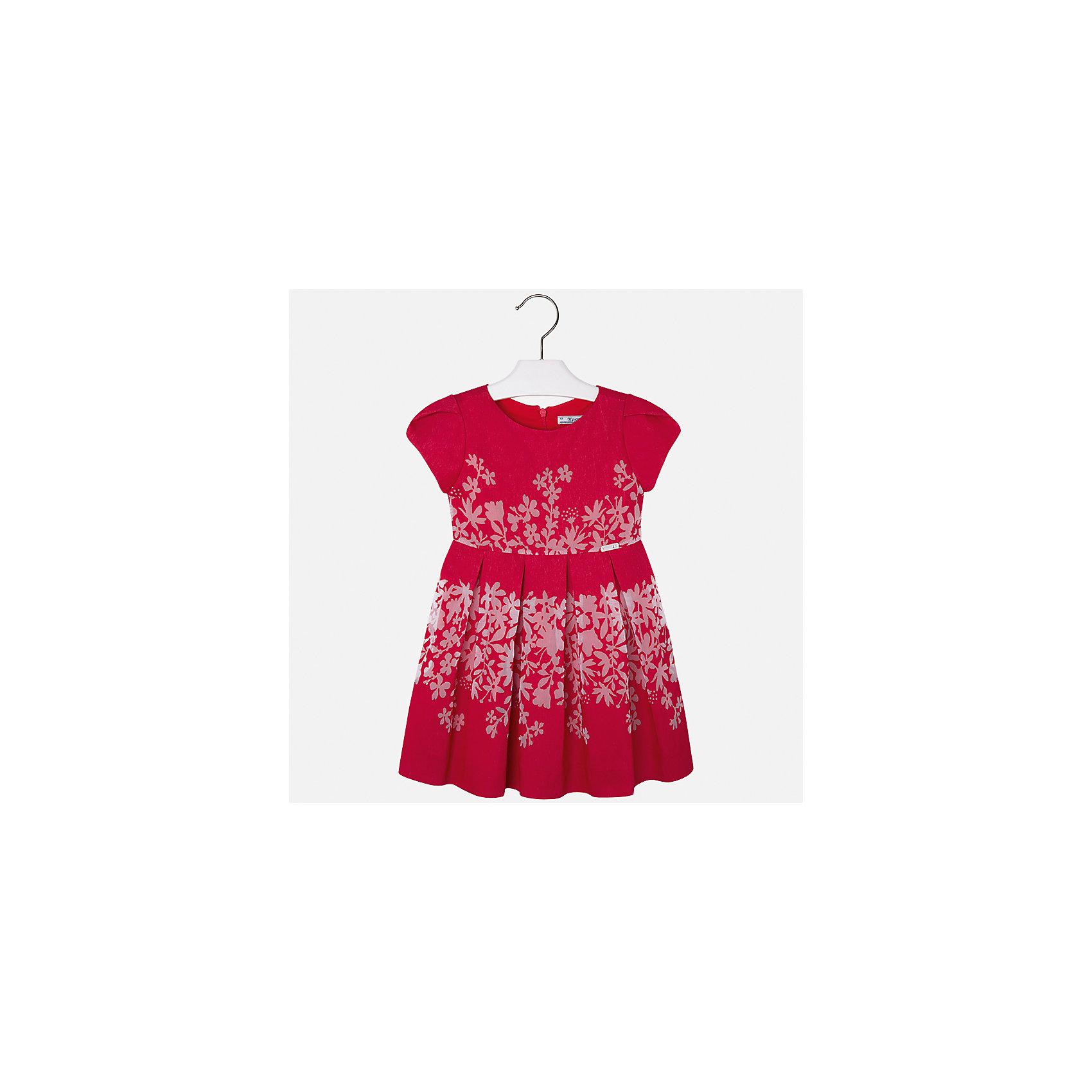 Платье для девочки MayoralОдежда<br>Характеристики товара:<br><br>• цвет: красный<br>• состав: 80% вискоза, 20% полиэстер, подкладка - 65% полиэстер, 35% хлопок<br>• застежка: молния<br>• легкий материал<br>• цветочный рисунок<br>• без рукавов<br>• с подкладкой<br>• страна бренда: Испания<br><br>Красивое легкое платье для девочки поможет разнообразить гардероб ребенка и создать эффектный наряд. Оно подойдет и для торжественных случаев, может быть и как ежедневный наряд. Красивый оттенок позволяет подобрать к вещи обувь разных расцветок. В составе материала подкладки - натуральный хлопок, гипоаллергенный, приятный на ощупь, дышащий. Платье хорошо сидит по фигуре.<br><br>Одежда, обувь и аксессуары от испанского бренда Mayoral полюбились детям и взрослым по всему миру. Модели этой марки - стильные и удобные. Для их производства используются только безопасные, качественные материалы и фурнитура. Порадуйте ребенка модными и красивыми вещами от Mayoral! <br><br>Платье для девочки от испанского бренда Mayoral (Майорал) можно купить в нашем интернет-магазине.<br><br>Ширина мм: 236<br>Глубина мм: 16<br>Высота мм: 184<br>Вес г: 177<br>Цвет: красный<br>Возраст от месяцев: 96<br>Возраст до месяцев: 108<br>Пол: Женский<br>Возраст: Детский<br>Размер: 134,98,104,110,116,122,128<br>SKU: 5291092