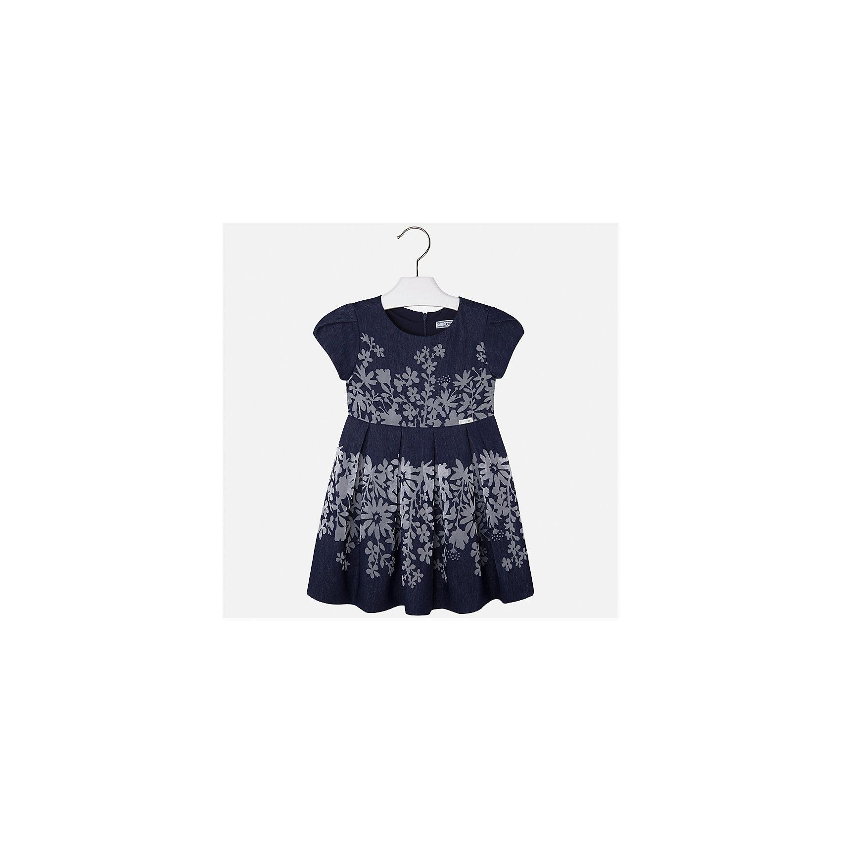 Платье для девочки MayoralОдежда<br>Характеристики товара:<br><br>• цвет: синий<br>• состав: 80% вискоза, 20% полиэстер, подкладка - 65% полиэстер, 35% хлопок<br>• застежка: молния<br>• легкий материал<br>• цветочный рисунок<br>• без рукавов<br>• с подкладкой<br>• страна бренда: Испания<br><br>Красивое легкое платье для девочки поможет разнообразить гардероб ребенка и создать эффектный наряд. Оно подойдет и для торжественных случаев, может быть и как ежедневный наряд. Красивый оттенок позволяет подобрать к вещи обувь разных расцветок. В составе материала подкладки - натуральный хлопок, гипоаллергенный, приятный на ощупь, дышащий. Платье хорошо сидит по фигуре.<br><br>Одежда, обувь и аксессуары от испанского бренда Mayoral полюбились детям и взрослым по всему миру. Модели этой марки - стильные и удобные. Для их производства используются только безопасные, качественные материалы и фурнитура. Порадуйте ребенка модными и красивыми вещами от Mayoral! <br><br>Платье для девочки от испанского бренда Mayoral (Майорал) можно купить в нашем интернет-магазине.<br><br>Ширина мм: 236<br>Глубина мм: 16<br>Высота мм: 184<br>Вес г: 177<br>Цвет: синий<br>Возраст от месяцев: 48<br>Возраст до месяцев: 60<br>Пол: Женский<br>Возраст: Детский<br>Размер: 110,116,122,128,134,98,104<br>SKU: 5291100