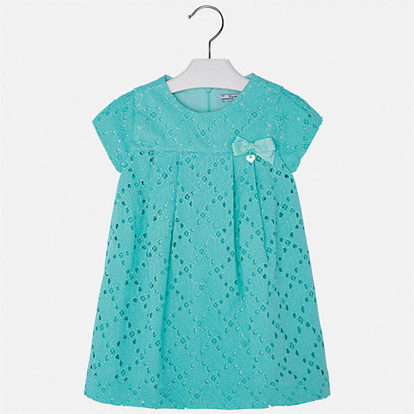 Платье для девочки MayoralОдежда<br>Характеристики товара:<br><br>• цвет: зеленый<br>• состав: 100% хлопок, подкладка - 65% полиэстер, 35% хлопок<br>• застежка: молния<br>• ажурная ткань верха<br>• завышенная талия<br>• короткие рукава<br>• с подкладкой<br>• страна бренда: Испания<br><br>Нарядное платье для девочки поможет разнообразить гардероб ребенка и создать эффектный наряд. Оно отлично подойдет для торжественных случаев. Красивый оттенок позволяет подобрать к вещи обувь разных расцветок. В составе материала подкладки - натуральный хлопок, гипоаллергенный, приятный на ощупь, дышащий. Платье хорошо сидит по фигуре.<br><br>Одежда, обувь и аксессуары от испанского бренда Mayoral полюбились детям и взрослым по всему миру. Модели этой марки - стильные и удобные. Для их производства используются только безопасные, качественные материалы и фурнитура. Порадуйте ребенка модными и красивыми вещами от Mayoral! <br><br>Платье для девочки от испанского бренда Mayoral (Майорал) можно купить в нашем интернет-магазине.<br>Ширина мм: 236; Глубина мм: 16; Высота мм: 184; Вес г: 177; Цвет: синий; Возраст от месяцев: 24; Возраст до месяцев: 36; Пол: Женский; Возраст: Детский; Размер: 98,92,104,110,116,122,128,134; SKU: 5291108;