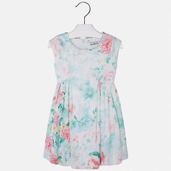 Платье для девочки MayoralПлатья и сарафаны<br>Характеристики товара:<br><br>• цвет: зеленый принт<br>• состав: 97% хлопок, 3% эластан, подкладка - 65% полиэстер, 35% хлопок<br>• застежка: молния<br>• легкий материал<br>• цветочный рисунок<br>• без рукавов<br>• с подкладкой<br>• страна бренда: Испания<br><br>Красивое легкое платье для девочки поможет разнообразить гардероб ребенка и создать эффектный наряд. Оно подойдет и для торжественных случаев, может быть и как ежедневный наряд. Красивый оттенок позволяет подобрать к вещи обувь разных расцветок. В составе материала подкладки - натуральный хлопок, гипоаллергенный, приятный на ощупь, дышащий. Платье хорошо сидит по фигуре.<br><br>Одежда, обувь и аксессуары от испанского бренда Mayoral полюбились детям и взрослым по всему миру. Модели этой марки - стильные и удобные. Для их производства используются только безопасные, качественные материалы и фурнитура. Порадуйте ребенка модными и красивыми вещами от Mayoral! <br><br>Платье для девочки от испанского бренда Mayoral (Майорал) можно купить в нашем интернет-магазине.<br>Ширина мм: 236; Глубина мм: 16; Высота мм: 184; Вес г: 177; Цвет: синий; Возраст от месяцев: 84; Возраст до месяцев: 96; Пол: Женский; Возраст: Детский; Размер: 128,116,110,104,98,92,122,134; SKU: 5291135;