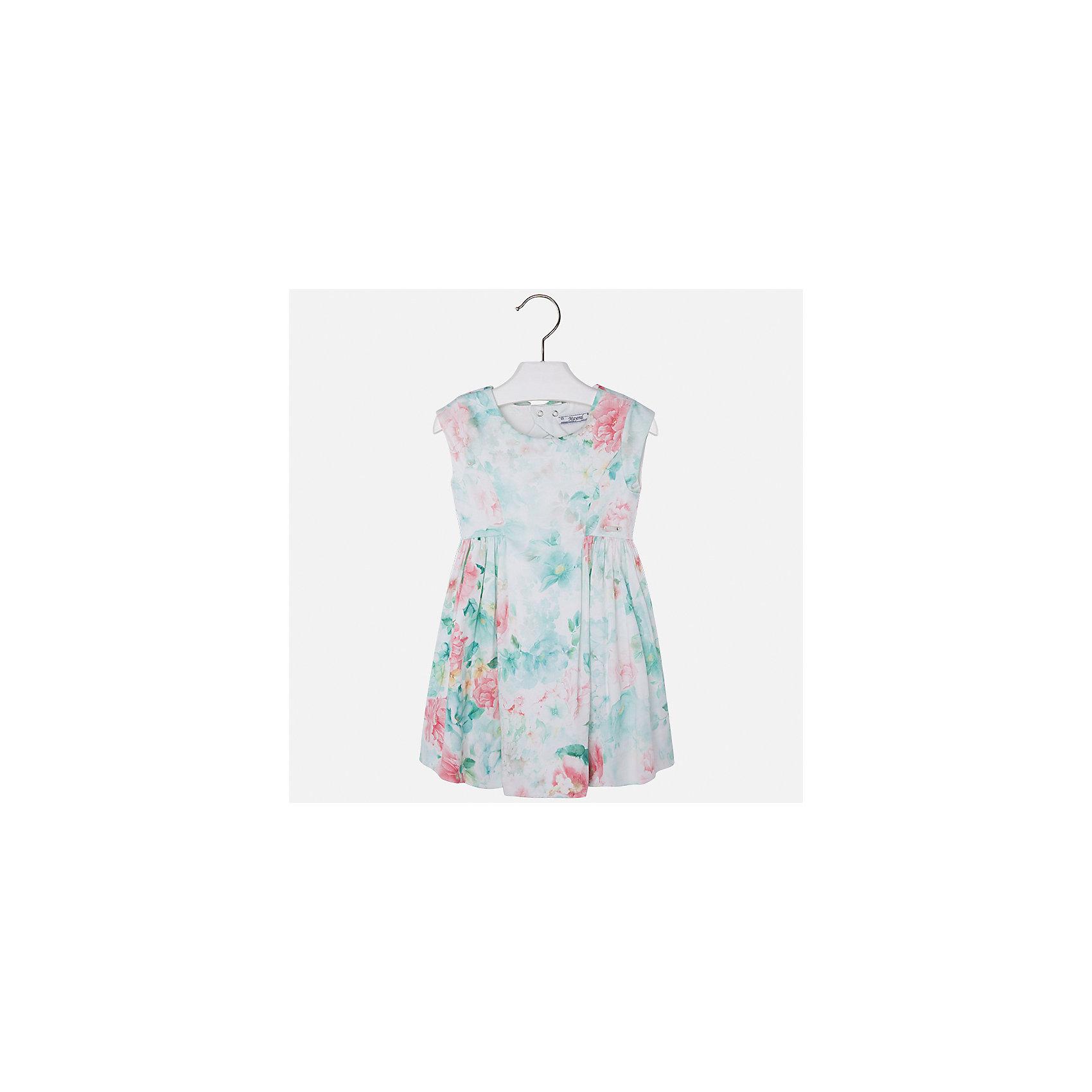 Платье для девочки MayoralХарактеристики товара:<br><br>• цвет: зеленый принт<br>• состав: 97% хлопок, 3% эластан, подкладка - 65% полиэстер, 35% хлопок<br>• застежка: молния<br>• легкий материал<br>• цветочный рисунок<br>• без рукавов<br>• с подкладкой<br>• страна бренда: Испания<br><br>Красивое легкое платье для девочки поможет разнообразить гардероб ребенка и создать эффектный наряд. Оно подойдет и для торжественных случаев, может быть и как ежедневный наряд. Красивый оттенок позволяет подобрать к вещи обувь разных расцветок. В составе материала подкладки - натуральный хлопок, гипоаллергенный, приятный на ощупь, дышащий. Платье хорошо сидит по фигуре.<br><br>Одежда, обувь и аксессуары от испанского бренда Mayoral полюбились детям и взрослым по всему миру. Модели этой марки - стильные и удобные. Для их производства используются только безопасные, качественные материалы и фурнитура. Порадуйте ребенка модными и красивыми вещами от Mayoral! <br><br>Платье для девочки от испанского бренда Mayoral (Майорал) можно купить в нашем интернет-магазине.<br><br>Ширина мм: 236<br>Глубина мм: 16<br>Высота мм: 184<br>Вес г: 177<br>Цвет: синий<br>Возраст от месяцев: 96<br>Возраст до месяцев: 108<br>Пол: Женский<br>Возраст: Детский<br>Размер: 134,92,98,104,110,116,122,128<br>SKU: 5291135
