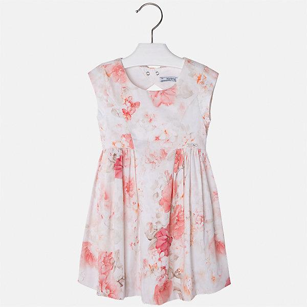 Платье для девочки MayoralПлатья и сарафаны<br>Характеристики товара:<br><br>• цвет: молочный принт<br>• состав: 97% хлопок, 3% эластан, подкладка - 65% полиэстер, 35% хлопок<br>• застежка: молния<br>• легкий материал<br>• цветочный рисунок<br>• без рукавов<br>• с подкладкой<br>• страна бренда: Испания<br><br>Красивое легкое платье для девочки поможет разнообразить гардероб ребенка и создать эффектный наряд. Оно подойдет и для торжественных случаев, может быть и как ежедневный наряд. Красивый оттенок позволяет подобрать к вещи обувь разных расцветок. В составе материала подкладки - натуральный хлопок, гипоаллергенный, приятный на ощупь, дышащий. Платье хорошо сидит по фигуре.<br><br>Одежда, обувь и аксессуары от испанского бренда Mayoral полюбились детям и взрослым по всему миру. Модели этой марки - стильные и удобные. Для их производства используются только безопасные, качественные материалы и фурнитура. Порадуйте ребенка модными и красивыми вещами от Mayoral! <br><br>Платье для девочки от испанского бренда Mayoral (Майорал) можно купить в нашем интернет-магазине.<br><br>Ширина мм: 236<br>Глубина мм: 16<br>Высота мм: 184<br>Вес г: 177<br>Цвет: оранжевый<br>Возраст от месяцев: 18<br>Возраст до месяцев: 24<br>Пол: Женский<br>Возраст: Детский<br>Размер: 92,134,128,122,116,110,104,98<br>SKU: 5291144