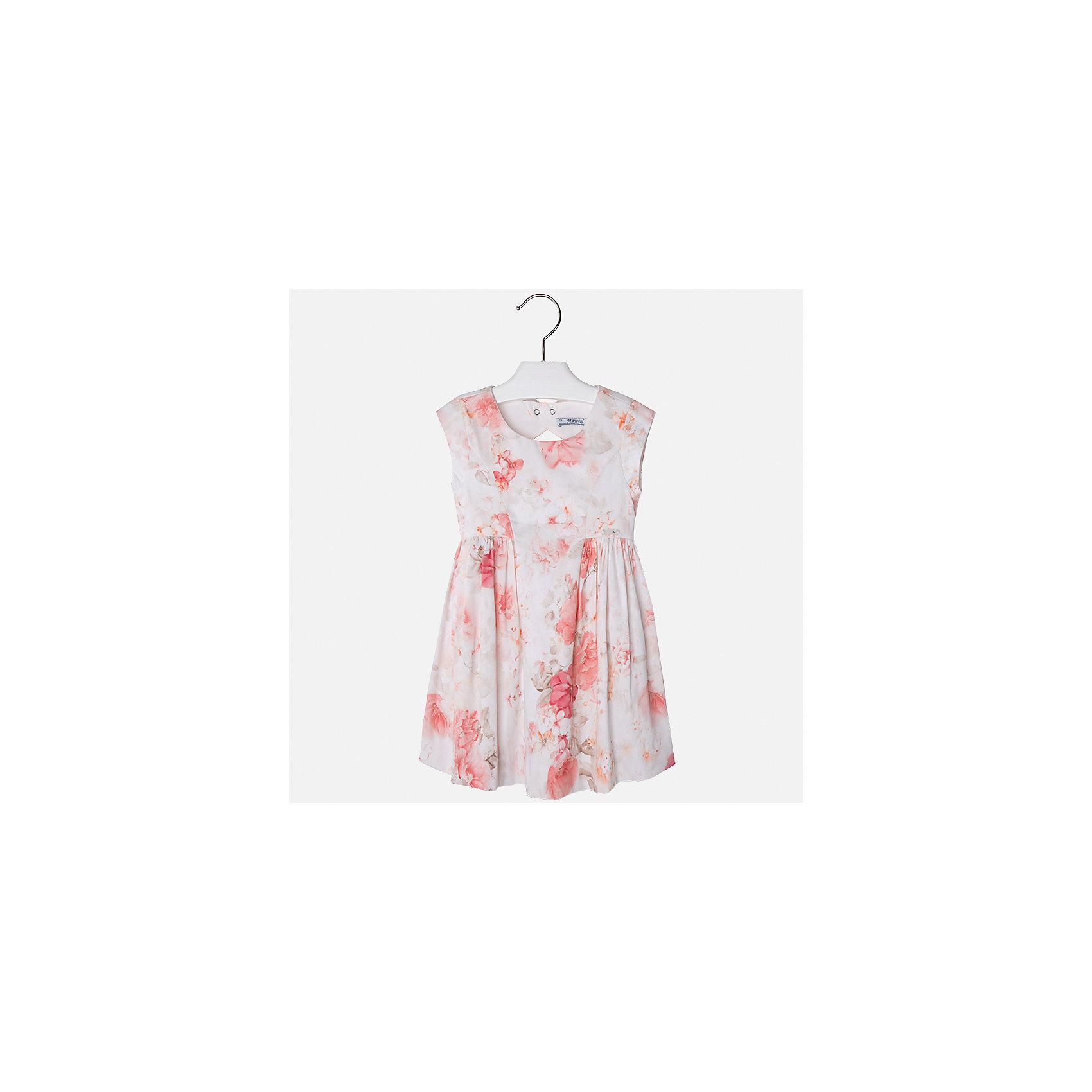 Платье для девочки MayoralПлатья и сарафаны<br>Характеристики товара:<br><br>• цвет: молочный принт<br>• состав: 97% хлопок, 3% эластан, подкладка - 65% полиэстер, 35% хлопок<br>• застежка: молния<br>• легкий материал<br>• цветочный рисунок<br>• без рукавов<br>• с подкладкой<br>• страна бренда: Испания<br><br>Красивое легкое платье для девочки поможет разнообразить гардероб ребенка и создать эффектный наряд. Оно подойдет и для торжественных случаев, может быть и как ежедневный наряд. Красивый оттенок позволяет подобрать к вещи обувь разных расцветок. В составе материала подкладки - натуральный хлопок, гипоаллергенный, приятный на ощупь, дышащий. Платье хорошо сидит по фигуре.<br><br>Одежда, обувь и аксессуары от испанского бренда Mayoral полюбились детям и взрослым по всему миру. Модели этой марки - стильные и удобные. Для их производства используются только безопасные, качественные материалы и фурнитура. Порадуйте ребенка модными и красивыми вещами от Mayoral! <br><br>Платье для девочки от испанского бренда Mayoral (Майорал) можно купить в нашем интернет-магазине.<br><br>Ширина мм: 236<br>Глубина мм: 16<br>Высота мм: 184<br>Вес г: 177<br>Цвет: оранжевый<br>Возраст от месяцев: 96<br>Возраст до месяцев: 108<br>Пол: Женский<br>Возраст: Детский<br>Размер: 134,92,98,104,110,116,122,128<br>SKU: 5291144