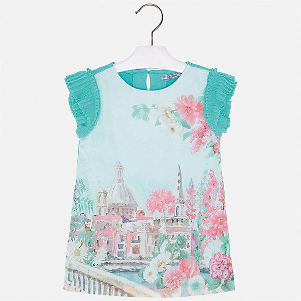 Платье для девочки MayoralЛетние платья и сарафаны<br>Характеристики товара:<br><br>• цвет: зелёный<br>• состав: 70% полиэстер, 28% хлопок, 2% эластан, подкладка - 95% хлопок, 5% эластан<br>• застежка: молния<br>• принт<br>• объемные короткие рукава<br>• прямой силуэт<br>• с подкладкой<br>• страна бренда: Испания<br><br>Эффектное платье для девочки поможет разнообразить гардероб ребенка и создать эффектный наряд. Оно отлично подойдет и для торжественных случаев. В составе материала подкладки - натуральный хлопок, гипоаллергенный, приятный на ощупь, дышащий. Платье хорошо сидит по фигуре.<br><br>Платье для девочки от испанского бренда Mayoral (Майорал) можно купить в нашем интернет-магазине.<br>Ширина мм: 236; Глубина мм: 16; Высота мм: 184; Вес г: 177; Цвет: синий; Возраст от месяцев: 18; Возраст до месяцев: 24; Пол: Женский; Возраст: Детский; Размер: 134,128,122,92,116,110,104,98; SKU: 5291198;