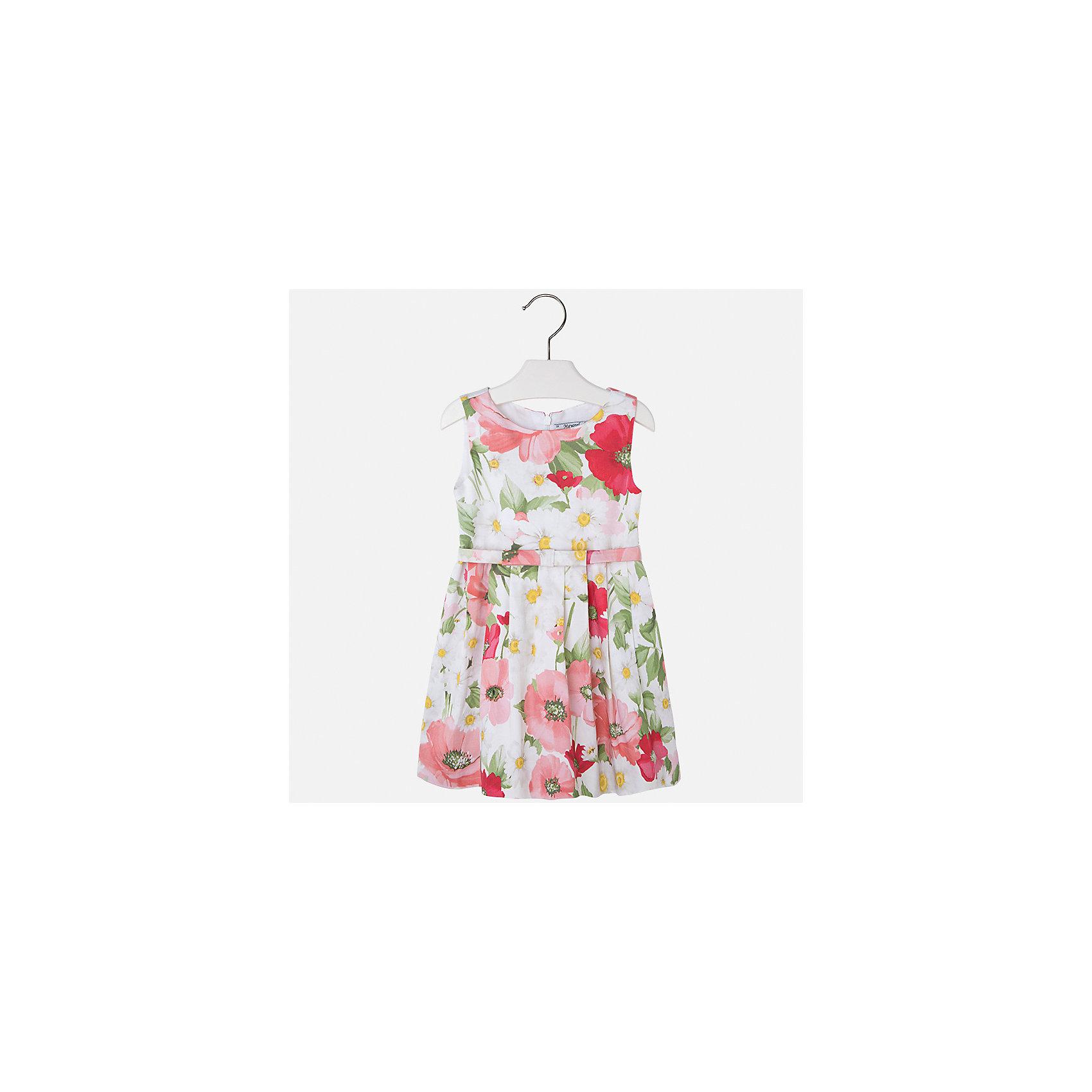 Платье для девочки MayoralХарактеристики товара:<br><br>• цвет: бело-розовый<br>• состав: 97% хлопок, 3% эластан, подкладка - 50% полиэстер, 50% хлопок<br>• застежка: молния<br>• складки<br>• принт<br>• без рукавов<br>• с подкладкой<br>• страна бренда: Испания<br><br>Нарядное платье для девочки поможет разнообразить гардероб ребенка и создать эффектный наряд. Оно отлично подойдет для торжественных случаев или на каждый день. Красивый оттенок позволяет подобрать к вещи обувь разных расцветок. В составе материала подкладки - натуральный хлопок, гипоаллергенный, приятный на ощупь, дышащий. Платье хорошо сидит по фигуре.<br><br>Одежда, обувь и аксессуары от испанского бренда Mayoral полюбились детям и взрослым по всему миру. Модели этой марки - стильные и удобные. Для их производства используются только безопасные, качественные материалы и фурнитура. Порадуйте ребенка модными и красивыми вещами от Mayoral! <br><br>Платье для девочки от испанского бренда Mayoral (Майорал) можно купить в нашем интернет-магазине.<br><br>Ширина мм: 236<br>Глубина мм: 16<br>Высота мм: 184<br>Вес г: 177<br>Цвет: оранжевый<br>Возраст от месяцев: 60<br>Возраст до месяцев: 72<br>Пол: Женский<br>Возраст: Детский<br>Размер: 116,122,128,92,98,134,104,110<br>SKU: 5291270