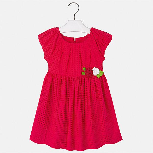 Платье для девочки MayoralПлатья и сарафаны<br>Характеристики товара:<br><br>• цвет: красный<br>• состав: 100% хлопок, подкладка - 100% хлопок<br>• застежка: молния<br>• украшено цветами<br>• короткие рукава<br>• с подкладкой<br>• страна бренда: Испания<br><br>Нарядное платье для девочки поможет разнообразить гардероб ребенка и создать эффектный наряд. Оно отлично подойдет для торжественных случаев или на каждый день. Красивый оттенок позволяет подобрать к вещи обувь разных расцветок. В составе материала подкладки - натуральный хлопок, гипоаллергенный, приятный на ощупь, дышащий. Платье хорошо сидит по фигуре.<br><br>Одежда, обувь и аксессуары от испанского бренда Mayoral полюбились детям и взрослым по всему миру. Модели этой марки - стильные и удобные. Для их производства используются только безопасные, качественные материалы и фурнитура. Порадуйте ребенка модными и красивыми вещами от Mayoral! <br><br>Платье для девочки от испанского бренда Mayoral (Майорал) можно купить в нашем интернет-магазине.<br>Ширина мм: 236; Глубина мм: 16; Высота мм: 184; Вес г: 177; Цвет: красный; Возраст от месяцев: 24; Возраст до месяцев: 36; Пол: Женский; Возраст: Детский; Размер: 122,116,98,110,104,92,134,128; SKU: 5291279;
