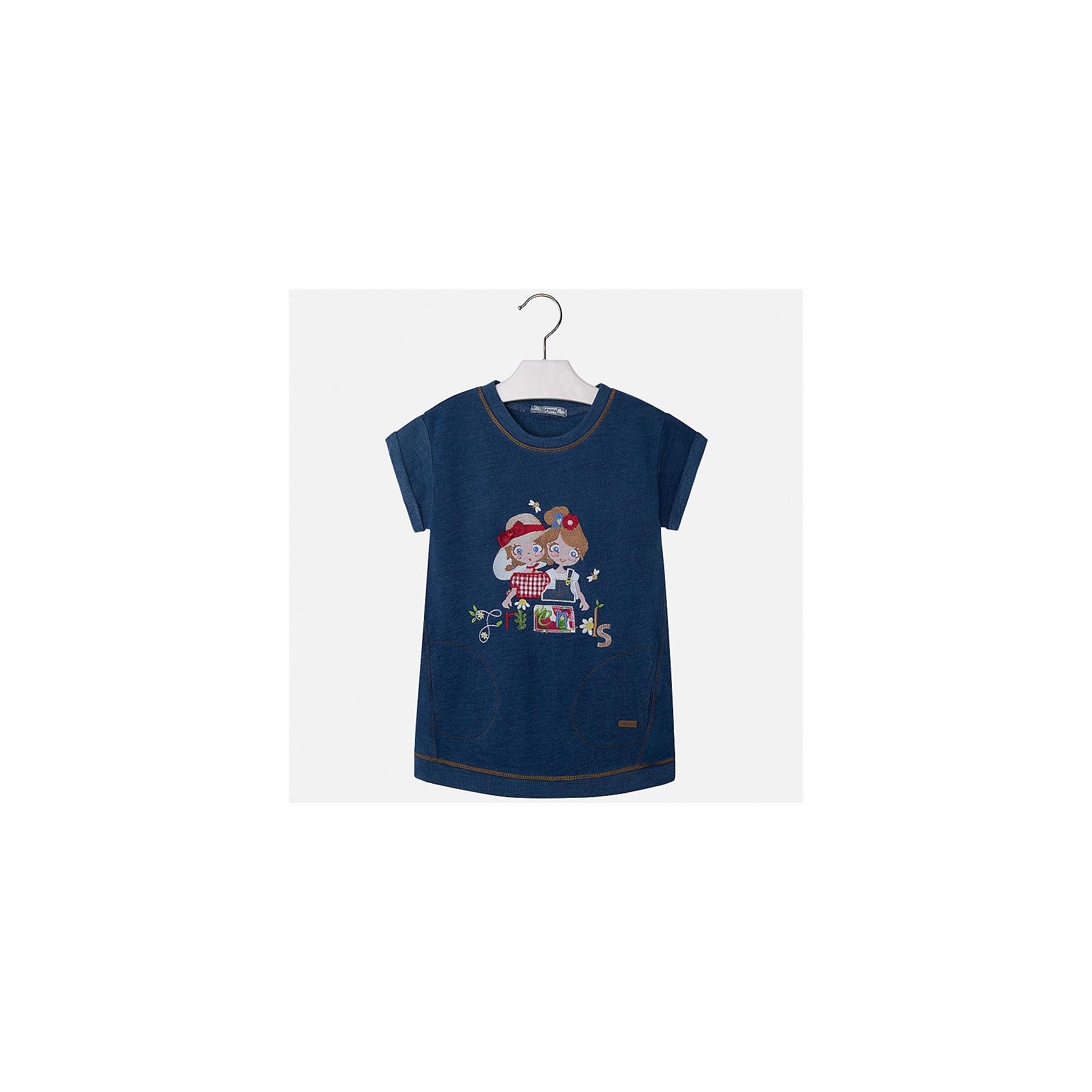 Платье для девочки MayoralЛетние платья и сарафаны<br>Характеристики товара:<br><br>• цвет: синий джинс<br>• состав: 100% хлопок<br>• застежка: молния<br>• легкий материал<br>• украшено кружевом<br>• пышные рукава<br>• страна бренда: Испания<br><br>Красивое легкое платье для девочки поможет разнообразить гардероб ребенка и создать эффектный наряд. Оно подойдет и для торжественных случаев, может быть и как ежедневный наряд. Красивый оттенок позволяет подобрать к вещи обувь разных расцветок. Платье хорошо сидит по фигуре.<br><br>Одежда, обувь и аксессуары от испанского бренда Mayoral полюбились детям и взрослым по всему миру. Модели этой марки - стильные и удобные. Для их производства используются только безопасные, качественные материалы и фурнитура. Порадуйте ребенка модными и красивыми вещами от Mayoral! <br><br>Платье для девочки от испанского бренда Mayoral (Майорал) можно купить в нашем интернет-магазине.<br><br>Ширина мм: 236<br>Глубина мм: 16<br>Высота мм: 184<br>Вес г: 177<br>Цвет: голубой<br>Возраст от месяцев: 96<br>Возраст до месяцев: 108<br>Пол: Женский<br>Возраст: Детский<br>Размер: 116,122,128,134,92,98,104,110<br>SKU: 5291288
