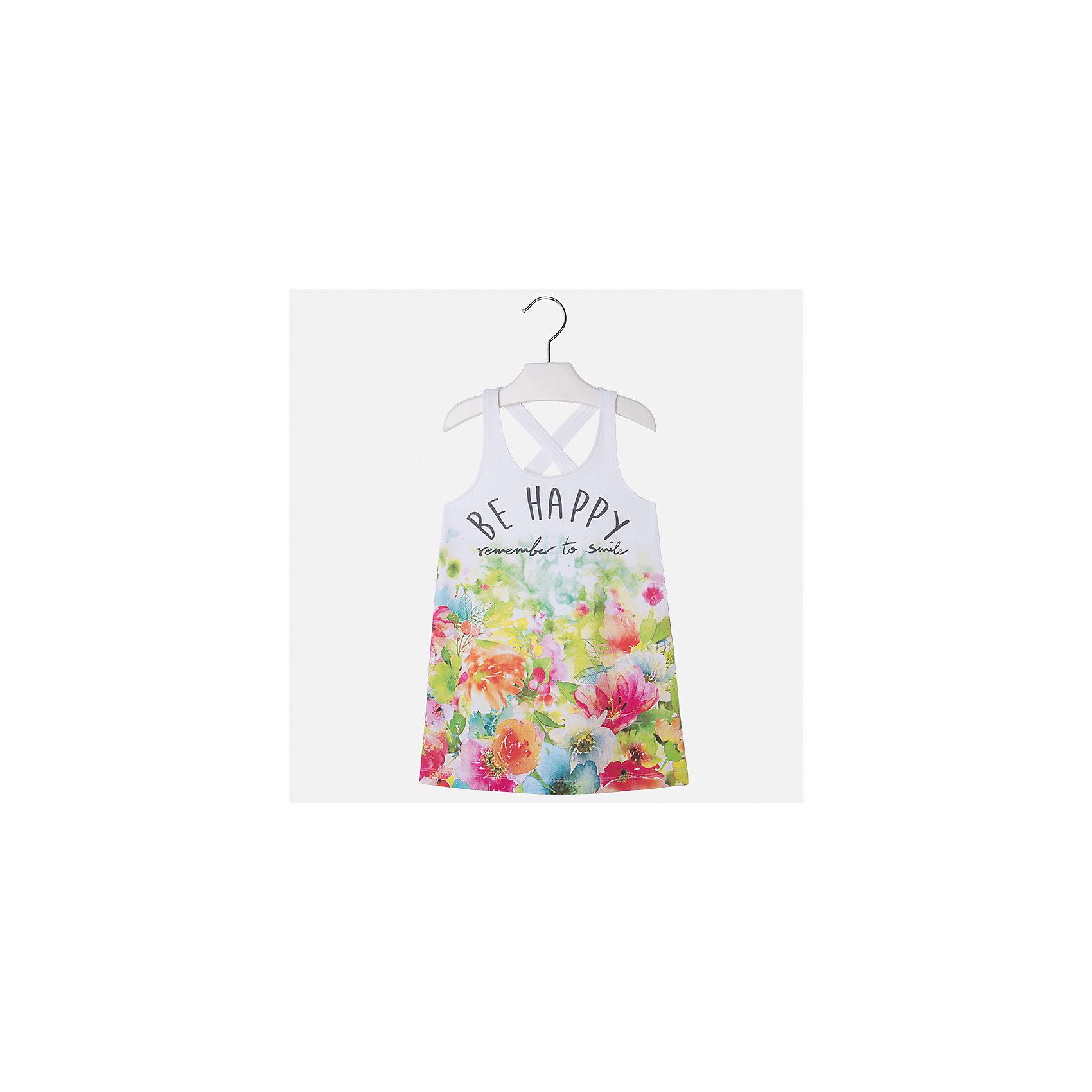 Платье для девочки MayoralХарактеристики товара:<br><br>• цвет: мультиколор<br>• состав: 92% хлопок, 8% эластан<br>• без застежки<br>• принт<br>• без рукавов<br>• без подкладки<br>• страна бренда: Испания<br><br>Модное красивое платье для девочки поможет разнообразить гардероб ребенка и создать эффектный наряд. Оно отлично подойдет для различных случаев. Красивый оттенок позволяет подобрать к вещи обувь разных расцветок. Платье хорошо сидит по фигуре. . В составе материала - натуральный хлопок, гипоаллергенный, приятный на ощупь, дышащий.<br><br>Одежда, обувь и аксессуары от испанского бренда Mayoral полюбились детям и взрослым по всему миру. Модели этой марки - стильные и удобные. Для их производства используются только безопасные, качественные материалы и фурнитура. Порадуйте ребенка модными и красивыми вещами от Mayoral! <br><br>Платье для девочки от испанского бренда Mayoral (Майорал) можно купить в нашем интернет-магазине.<br><br>Ширина мм: 236<br>Глубина мм: 16<br>Высота мм: 184<br>Вес г: 177<br>Цвет: зеленый<br>Возраст от месяцев: 84<br>Возраст до месяцев: 96<br>Пол: Женский<br>Возраст: Детский<br>Размер: 110,104,98,92,134,128,122,116<br>SKU: 5292434