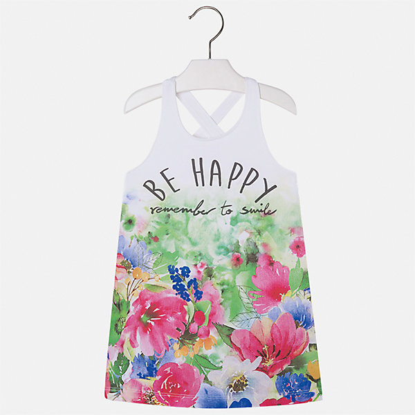 Платье для девочки MayoralЛетние платья и сарафаны<br>Характеристики товара:<br><br>• цвет: мультиколор<br>• состав: 92% хлопок, 8% эластан<br>• без застежки<br>• принт<br>• без рукавов<br>• без подкладки<br>• страна бренда: Испания<br><br>Модное красивое платье для девочки поможет разнообразить гардероб ребенка и создать эффектный наряд. Оно отлично подойдет для различных случаев. Красивый оттенок позволяет подобрать к вещи обувь разных расцветок. Платье хорошо сидит по фигуре. . В составе материала - натуральный хлопок, гипоаллергенный, приятный на ощупь, дышащий.<br><br>Одежда, обувь и аксессуары от испанского бренда Mayoral полюбились детям и взрослым по всему миру. Модели этой марки - стильные и удобные. Для их производства используются только безопасные, качественные материалы и фурнитура. Порадуйте ребенка модными и красивыми вещами от Mayoral! <br><br>Платье для девочки от испанского бренда Mayoral (Майорал) можно купить в нашем интернет-магазине.<br><br>Ширина мм: 236<br>Глубина мм: 16<br>Высота мм: 184<br>Вес г: 177<br>Цвет: красный<br>Возраст от месяцев: 60<br>Возраст до месяцев: 72<br>Пол: Женский<br>Возраст: Детский<br>Размер: 116,110,104,98,92,134,128,122<br>SKU: 5292443