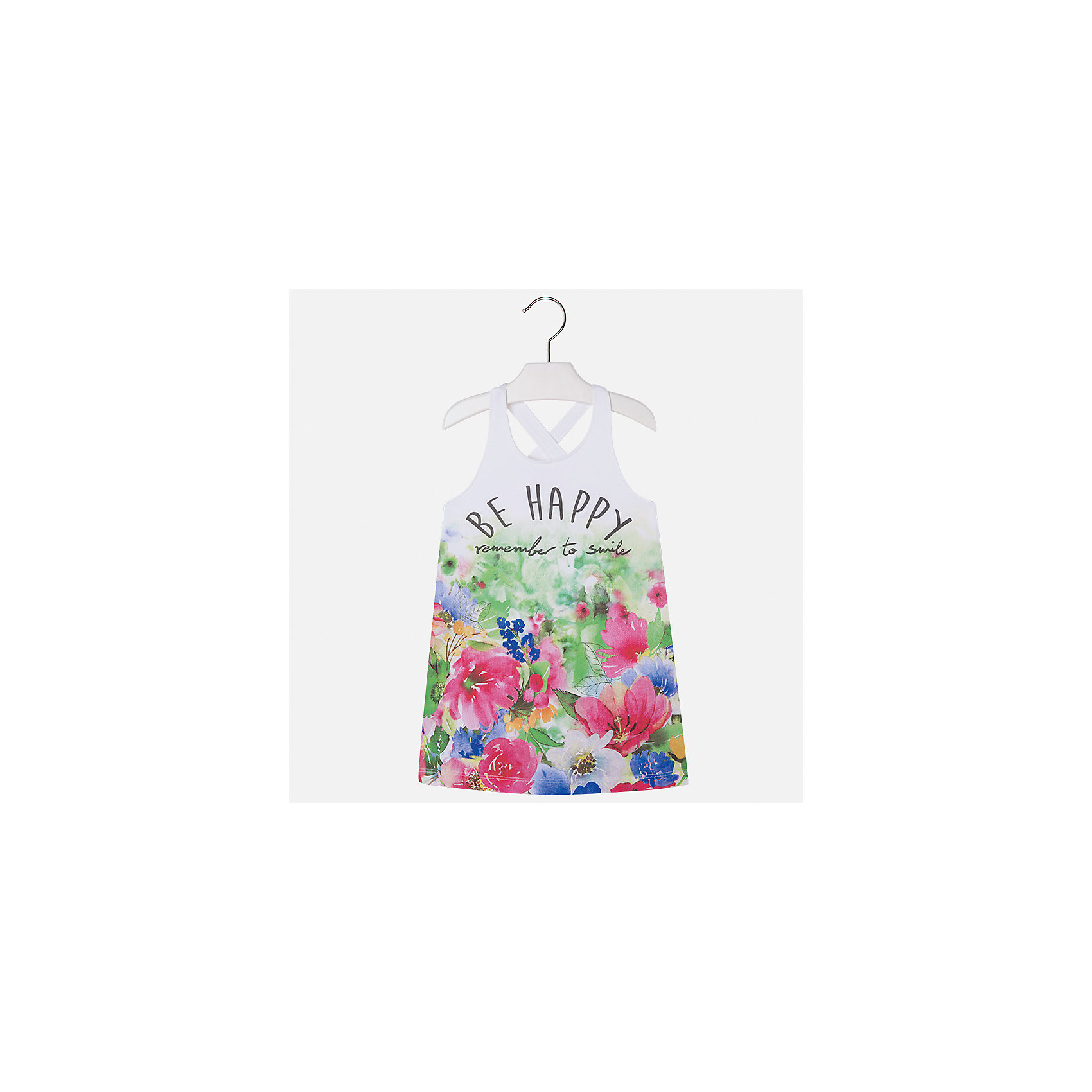 Платье для девочки MayoralВесенняя капель<br>Характеристики товара:<br><br>• цвет: мультиколор<br>• состав: 92% хлопок, 8% эластан<br>• без застежки<br>• принт<br>• без рукавов<br>• без подкладки<br>• страна бренда: Испания<br><br>Модное красивое платье для девочки поможет разнообразить гардероб ребенка и создать эффектный наряд. Оно отлично подойдет для различных случаев. Красивый оттенок позволяет подобрать к вещи обувь разных расцветок. Платье хорошо сидит по фигуре. . В составе материала - натуральный хлопок, гипоаллергенный, приятный на ощупь, дышащий.<br><br>Одежда, обувь и аксессуары от испанского бренда Mayoral полюбились детям и взрослым по всему миру. Модели этой марки - стильные и удобные. Для их производства используются только безопасные, качественные материалы и фурнитура. Порадуйте ребенка модными и красивыми вещами от Mayoral! <br><br>Платье для девочки от испанского бренда Mayoral (Майорал) можно купить в нашем интернет-магазине.<br><br>Ширина мм: 236<br>Глубина мм: 16<br>Высота мм: 184<br>Вес г: 177<br>Цвет: красный<br>Возраст от месяцев: 84<br>Возраст до месяцев: 96<br>Пол: Женский<br>Возраст: Детский<br>Размер: 128,134,92,98,104,110,116,122<br>SKU: 5292443