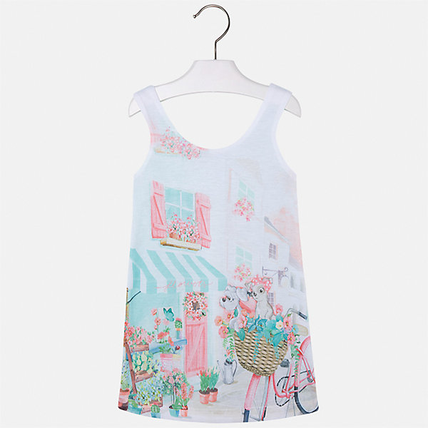 Платье для девочки MayoralЛетние платья и сарафаны<br>Характеристики товара:<br><br>• цвет: зеленый<br>• состав: 92% хлопок, 8% эластан, подкладка - 100% полиэстер<br>• без застежки<br>• принт<br>• без рукавов<br>• с подкладкой<br>• страна бренда: Испания<br><br>Модное красивое платье для девочки поможет разнообразить гардероб ребенка и создать эффектный наряд. Оно отлично подойдет для различных случаев. Красивый оттенок позволяет подобрать к вещи обувь разных расцветок. Платье хорошо сидит по фигуре. . В составе материала - натуральный хлопок, гипоаллергенный, приятный на ощупь, дышащий.<br><br>Одежда, обувь и аксессуары от испанского бренда Mayoral полюбились детям и взрослым по всему миру. Модели этой марки - стильные и удобные. Для их производства используются только безопасные, качественные материалы и фурнитура. Порадуйте ребенка модными и красивыми вещами от Mayoral! <br><br>Платье для девочки от испанского бренда Mayoral (Майорал) можно купить в нашем интернет-магазине.<br><br>Ширина мм: 236<br>Глубина мм: 16<br>Высота мм: 184<br>Вес г: 177<br>Цвет: зеленый<br>Возраст от месяцев: 24<br>Возраст до месяцев: 36<br>Пол: Женский<br>Возраст: Детский<br>Размер: 98,122,116,110,104<br>SKU: 5292458