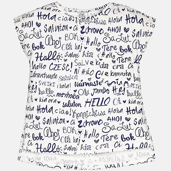 Футболка для девочки MayoralФутболки, поло и топы<br>Характеристики товара:<br><br>• цвет: белый<br>• состав: 100% хлопок<br>• декорирована принтом<br>• короткие рукава<br>• округлый горловой вырез<br>• страна бренда: Испания<br><br>Стильная качественная футболка для девочки поможет разнообразить гардероб ребенка и украсить наряд. Она отлично сочетается и с юбками, и с шортами, и с брюками. Универсальный цвет позволяет подобрать к вещи низ практически любой расцветки. Интересная отделка модели делает её нарядной и оригинальной. В составе ткани преобладает натуральный хлопок, гипоаллергенный, приятный на ощупь, дышащий.<br><br>Одежда, обувь и аксессуары от испанского бренда Mayoral полюбились детям и взрослым по всему миру. Модели этой марки - стильные и удобные. Для их производства используются только безопасные, качественные материалы и фурнитура. Порадуйте ребенка модными и красивыми вещами от Mayoral! <br><br>Футболку для девочки от испанского бренда Mayoral (Майорал) можно купить в нашем интернет-магазине.<br><br>Ширина мм: 199<br>Глубина мм: 10<br>Высота мм: 161<br>Вес г: 151<br>Цвет: бежевый<br>Возраст от месяцев: 132<br>Возраст до месяцев: 144<br>Пол: Женский<br>Возраст: Детский<br>Размер: 152,158,140,128/134,170,164<br>SKU: 5292540