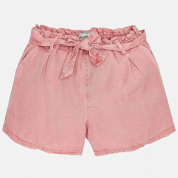 Шорты для девочки MayoralШорты, бриджи, капри<br>Характеристики товара:<br><br>• цвет: розовый<br>• состав: 100% лиоцелл<br>• свободный силуэт<br>• есть пояс<br>• пояс - резинка<br>• страна бренда: Испания<br><br>Стильные легкие шорты для девочки смогут разнообразить гардероб ребенка и украсить наряд. Они отлично сочетаются с майками, футболками. Красивый оттенок позволяет подобрать к вещи верх разных расцветок. Интересный крой модели делает её нарядной и оригинальной. <br><br>Одежда, обувь и аксессуары от испанского бренда Mayoral полюбились детям и взрослым по всему миру. Модели этой марки - стильные и удобные. Для их производства используются только безопасные, качественные материалы и фурнитура. Порадуйте ребенка модными и красивыми вещами от Mayoral! <br><br>Шорты для девочки от испанского бренда Mayoral (Майорал) можно купить в нашем интернет-магазине.<br><br>Ширина мм: 191<br>Глубина мм: 10<br>Высота мм: 175<br>Вес г: 273<br>Цвет: розовый<br>Возраст от месяцев: 156<br>Возраст до месяцев: 168<br>Пол: Женский<br>Возраст: Детский<br>Размер: 164,128/134,140,152,158<br>SKU: 5292687