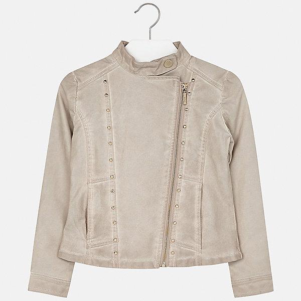 Куртка для девочки MayoralВерхняя одежда<br>Характеристики товара:<br><br>• цвет: бежевый<br>• состав: 100% полиуретан, подкладка - 100% полиэстер<br>• косая молния<br>• карманы<br>• с длинными рукавами <br>• металлические элементы на планке<br>• страна бренда: Испания<br><br>Очень стильная куртка для девочки поможет разнообразить гардероб ребенка и украсить наряд. Он отлично сочетается и с юбками, и с брюками. Универсальный цвет позволяет подобрать к вещи низ различных расцветок. Интересная отделка модели делает её нарядной и оригинальной.<br><br>Одежда, обувь и аксессуары от испанского бренда Mayoral полюбились детям и взрослым по всему миру. Модели этой марки - стильные и удобные. Для их производства используются только безопасные, качественные материалы и фурнитура. Порадуйте ребенка модными и красивыми вещами от Mayoral! <br><br>Куртку для девочки от испанского бренда Mayoral (Майорал) можно купить в нашем интернет-магазине.<br><br>Ширина мм: 356<br>Глубина мм: 10<br>Высота мм: 245<br>Вес г: 519<br>Цвет: бежевый<br>Возраст от месяцев: 108<br>Возраст до месяцев: 120<br>Пол: Женский<br>Возраст: Детский<br>Размер: 140,128/134,164,152,158,170<br>SKU: 5292849