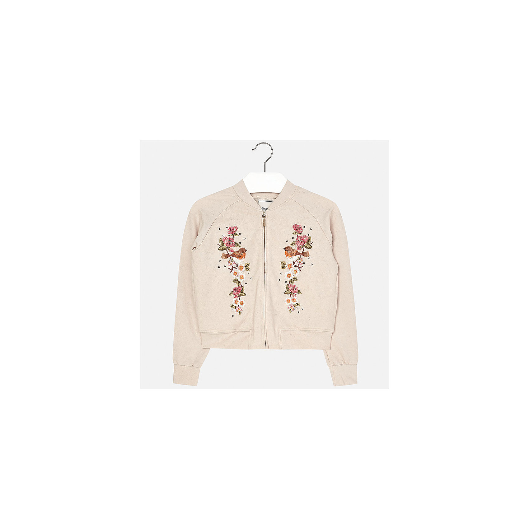 Куртка для девочки MayoralВерхняя одежда<br>Характеристики товара:<br><br>• цвет: бежевый<br>• состав: 95% хлопок, 5% эластан<br>• молния<br>• манжеты<br>• длинные рукава<br>• украшена принтом<br>• страна бренда: Испания<br><br>Очень стильная куртка для девочки поможет разнообразить гардероб ребенка и украсить наряд. Он отлично сочетается и с юбками, и с брюками. Универсальный цвет позволяет подобрать к вещи низ различных расцветок. Интересная отделка модели делает её нарядной и оригинальной.<br><br>Одежда, обувь и аксессуары от испанского бренда Mayoral полюбились детям и взрослым по всему миру. Модели этой марки - стильные и удобные. Для их производства используются только безопасные, качественные материалы и фурнитура. Порадуйте ребенка модными и красивыми вещами от Mayoral! <br><br>Куртку для девочки от испанского бренда Mayoral (Майорал) можно купить в нашем интернет-магазине.<br><br>Ширина мм: 356<br>Глубина мм: 10<br>Высота мм: 245<br>Вес г: 519<br>Цвет: бежевый<br>Возраст от месяцев: 84<br>Возраст до месяцев: 96<br>Пол: Женский<br>Возраст: Детский<br>Размер: 128/134,164,140,152,158<br>SKU: 5292898