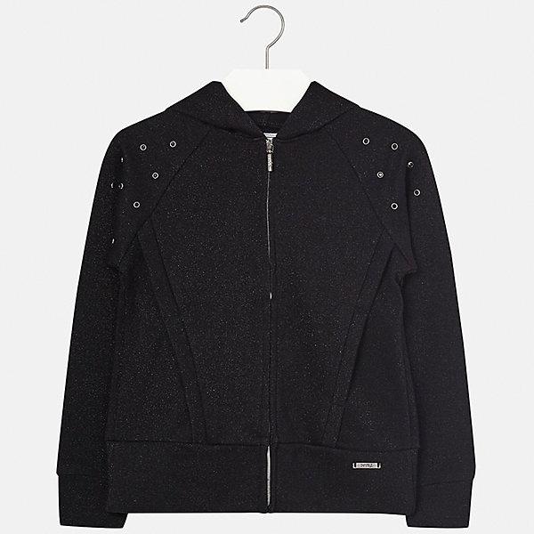 Куртка для девочки MayoralВерхняя одежда<br>Характеристики товара:<br><br>• цвет: чёрный<br>• состав: 42% хлопок, 42% вискоза, 16% металлическая нить<br>• молния<br>• капюшон<br>• карманы<br>• украшена стразами<br>• страна бренда: Испания<br><br>Модная куртка для девочки поможет разнообразить гардероб ребенка и украсить наряд. Интересная отделка модели делает её нарядной и оригинальной.<br><br>Куртку для девочки от испанского бренда Mayoral (Майорал) можно купить в нашем интернет-магазине.<br><br>Ширина мм: 356<br>Глубина мм: 10<br>Высота мм: 245<br>Вес г: 519<br>Цвет: черный<br>Возраст от месяцев: 84<br>Возраст до месяцев: 96<br>Пол: Женский<br>Возраст: Детский<br>Размер: 128/134,170,164,158,152,140<br>SKU: 5292917