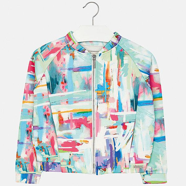Куртка для девочки MayoralВерхняя одежда<br>Характеристики товара:<br><br>• цвет: мультиколор<br>• состав: 100% полиэстер, подкладка - 100% вискоза<br>• молния<br>• рукава реглан<br>• карманы<br>• длинные рукава<br>• страна бренда: Испания<br><br>Модная куртка для девочки поможет разнообразить гардероб ребенка и украсить наряд. Он отлично сочетается и с юбками, и с брюками. Универсальный цвет позволяет подобрать к вещи низ различных расцветок. Интересная отделка модели делает её нарядной и оригинальной.<br><br>Одежда, обувь и аксессуары от испанского бренда Mayoral полюбились детям и взрослым по всему миру. Модели этой марки - стильные и удобные. Для их производства используются только безопасные, качественные материалы и фурнитура. Порадуйте ребенка модными и красивыми вещами от Mayoral! <br><br>Куртку для девочки от испанского бренда Mayoral (Майорал) можно купить в нашем интернет-магазине.<br><br>Ширина мм: 356<br>Глубина мм: 10<br>Высота мм: 245<br>Вес г: 519<br>Цвет: белый<br>Возраст от месяцев: 156<br>Возраст до месяцев: 168<br>Пол: Женский<br>Возраст: Детский<br>Размер: 164,158,152,140,128/134,170<br>SKU: 5292924