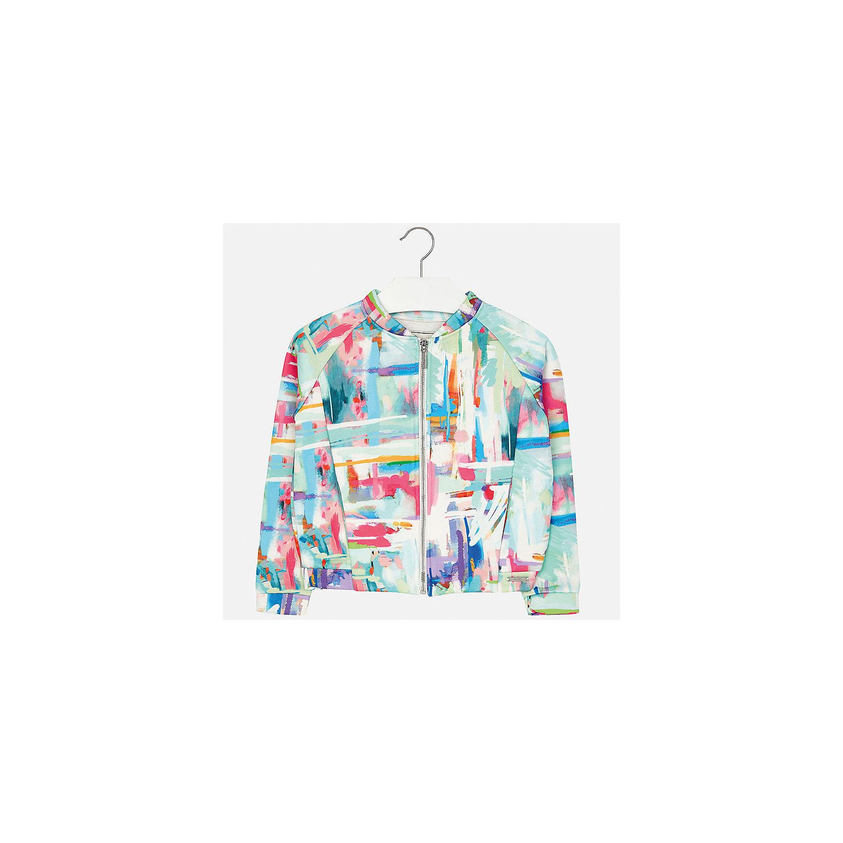 Куртка для девочки MayoralСицилия<br>Характеристики товара:<br><br>• цвет: мультиколор<br>• состав: 100% полиэстер, подкладка - 100% вискоза<br>• молния<br>• рукава реглан<br>• карманы<br>• длинные рукава<br>• страна бренда: Испания<br><br>Модная куртка для девочки поможет разнообразить гардероб ребенка и украсить наряд. Он отлично сочетается и с юбками, и с брюками. Универсальный цвет позволяет подобрать к вещи низ различных расцветок. Интересная отделка модели делает её нарядной и оригинальной.<br><br>Одежда, обувь и аксессуары от испанского бренда Mayoral полюбились детям и взрослым по всему миру. Модели этой марки - стильные и удобные. Для их производства используются только безопасные, качественные материалы и фурнитура. Порадуйте ребенка модными и красивыми вещами от Mayoral! <br><br>Куртку для девочки от испанского бренда Mayoral (Майорал) можно купить в нашем интернет-магазине.<br><br>Ширина мм: 356<br>Глубина мм: 10<br>Высота мм: 245<br>Вес г: 519<br>Цвет: разноцветный<br>Возраст от месяцев: 156<br>Возраст до месяцев: 168<br>Пол: Женский<br>Возраст: Детский<br>Размер: 164,170,128/134,140,152,158<br>SKU: 5292924