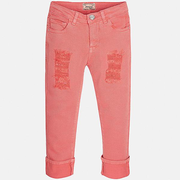 Брюки для девочки MayoralБрюки<br>Характеристики товара:<br><br>• цвет: розовый<br>• состав: 98% хлопок, 2% эластан<br>• эффект потертости<br>• карманы<br>• пояс с регулировкой объема<br>• шлевки<br>• страна бренда: Испания<br><br>Стильные брюки для девочки смогут разнообразить гардероб ребенка и украсить наряд. Они отлично сочетаются с майками, футболками, блузками. Красивый оттенок позволяет подобрать к вещи верх разных расцветок. Интересный крой модели делает её нарядной и оригинальной. В составе материала - натуральный хлопок, гипоаллергенный, приятный на ощупь, дышащий.<br><br>Одежда, обувь и аксессуары от испанского бренда Mayoral полюбились детям и взрослым по всему миру. Модели этой марки - стильные и удобные. Для их производства используются только безопасные, качественные материалы и фурнитура. Порадуйте ребенка модными и красивыми вещами от Mayoral! <br><br>Брюки для девочки от испанского бренда Mayoral (Майорал) можно купить в нашем интернет-магазине.<br>Ширина мм: 215; Глубина мм: 88; Высота мм: 191; Вес г: 336; Цвет: розовый; Возраст от месяцев: 108; Возраст до месяцев: 120; Пол: Женский; Возраст: Детский; Размер: 140,128/134,152,158,164,170; SKU: 5292966;