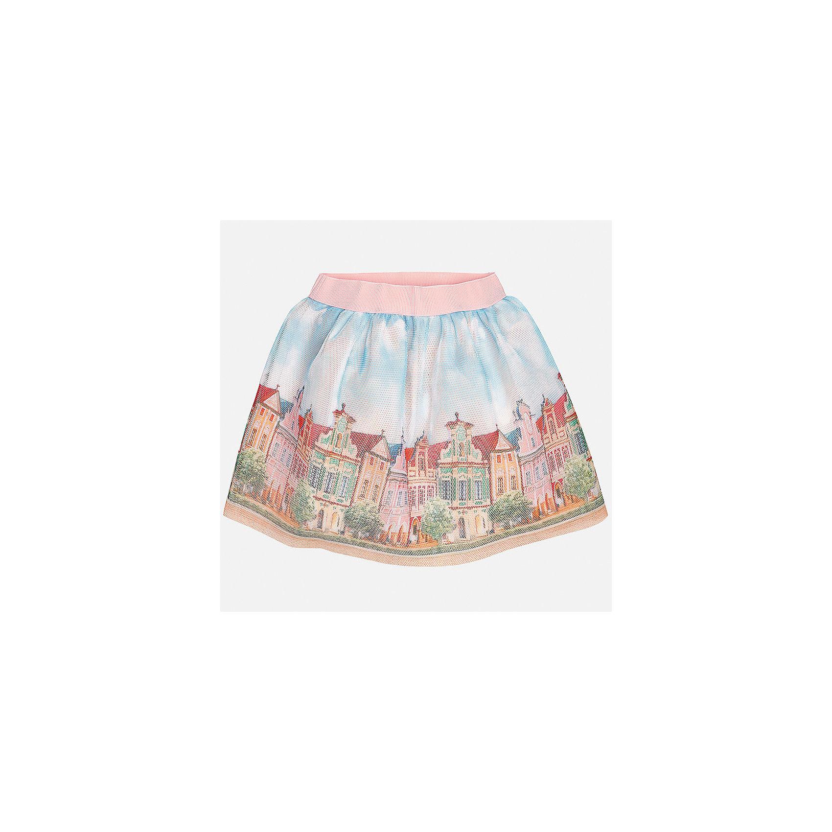 Юбка для девочки MayoralХарактеристики товара:<br><br>• цвет: мультиколор<br>• состав: 100% полиэстер, подкладка - 80% полиэстер, 20% хлопок<br>• пояс на резинке<br>• легкий материал<br>• с подкладкой<br>• декорирована принтом<br>• страна бренда: Испания<br><br>Легкая юбка для девочки поможет разнообразить гардероб ребенка и создать эффектный наряд. Она отлично сочетаются с майками, футболками, блузками. Красивый оттенок позволяет подобрать к вещи верх разных расцветок. В составе материала подкладки - натуральный хлопок, гипоаллергенный, приятный на ощупь, дышащий. Юбка отлично сидит и не стесняет движения.<br><br>Одежда, обувь и аксессуары от испанского бренда Mayoral полюбились детям и взрослым по всему миру. Модели этой марки - стильные и удобные. Для их производства используются только безопасные, качественные материалы и фурнитура. Порадуйте ребенка модными и красивыми вещами от Mayoral! <br><br>Юбку для девочки от испанского бренда Mayoral (Майорал) можно купить в нашем интернет-магазине.<br><br>Ширина мм: 207<br>Глубина мм: 10<br>Высота мм: 189<br>Вес г: 183<br>Цвет: оранжевый<br>Возраст от месяцев: 168<br>Возраст до месяцев: 180<br>Пол: Женский<br>Возраст: Детский<br>Размер: 170,128/134,140,152,158,164<br>SKU: 5293166