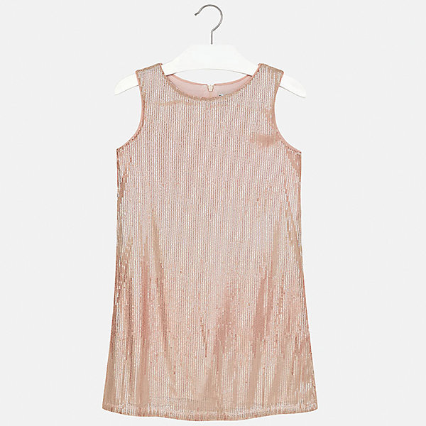 Платье для девочки MayoralОдежда<br>Характеристики товара:<br><br>• цвет: розовый<br>• состав: 100% полиэстер, подкладка - 95% полиэстер, 5% эластан<br>• застежка: молния<br>• прямой силуэт<br>• без рукавов<br>• с подкладкой<br>• страна бренда: Испания<br><br>Нарядное платье для девочки поможет разнообразить гардероб ребенка и создать эффектный наряд. Оно подойдет для различных случаев. Красивый оттенок позволяет подобрать к вещи обувь разных расцветок. Платье хорошо сидит по фигуре.<br><br>Одежда, обувь и аксессуары от испанского бренда Mayoral полюбились детям и взрослым по всему миру. Модели этой марки - стильные и удобные. Для их производства используются только безопасные, качественные материалы и фурнитура. Порадуйте ребенка модными и красивыми вещами от Mayoral! <br><br>Платье для девочки от испанского бренда Mayoral (Майорал) можно купить в нашем интернет-магазине.<br>Ширина мм: 236; Глубина мм: 16; Высота мм: 184; Вес г: 177; Цвет: розовый; Возраст от месяцев: 84; Возраст до месяцев: 96; Пол: Женский; Возраст: Детский; Размер: 128/134,164,158,152,140; SKU: 5293213;