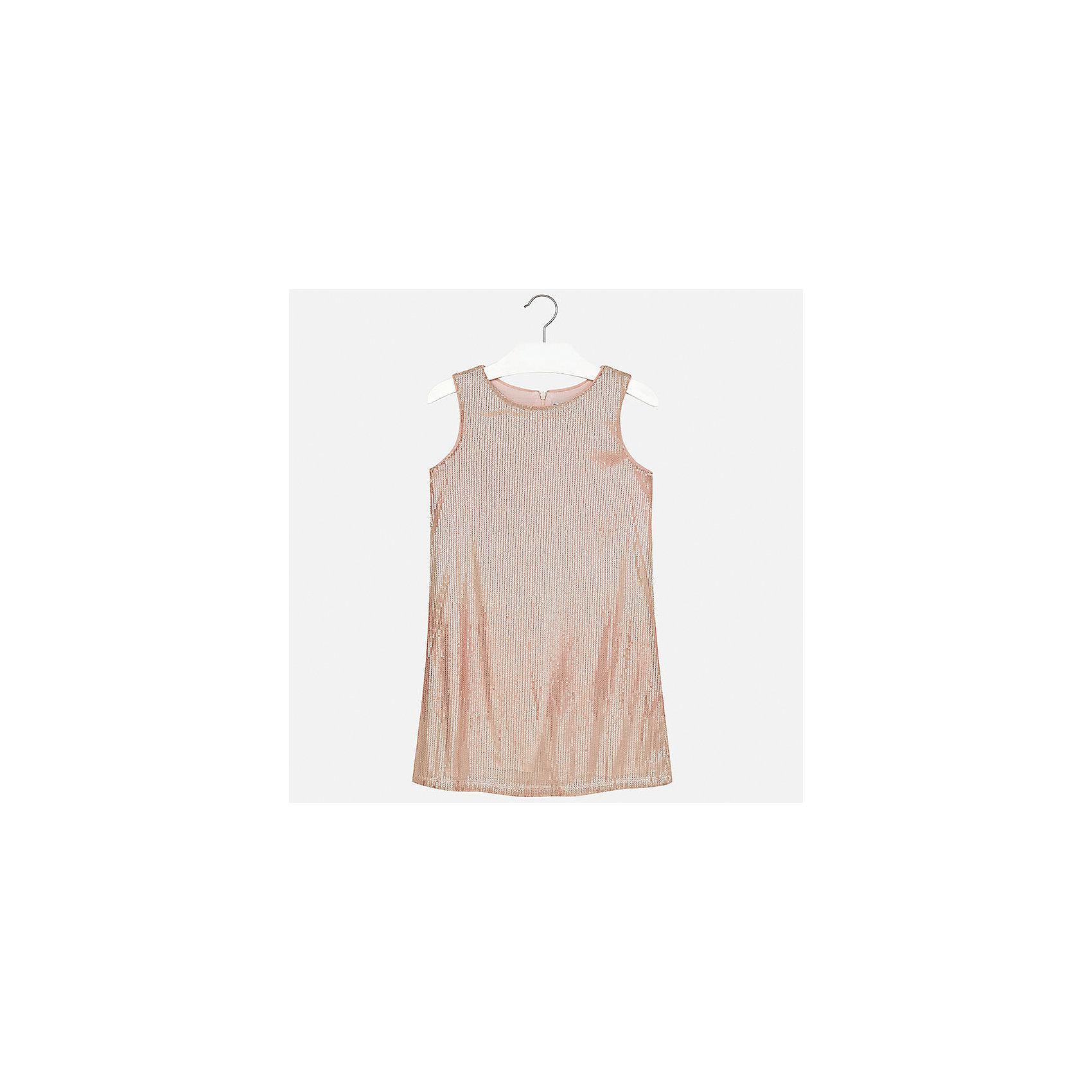 Платье для девочки MayoralХарактеристики товара:<br><br>• цвет: розовый<br>• состав: 100% полиэстер, подкладка - 95% полиэстер, 5% эластан<br>• застежка: молния<br>• прямой силуэт<br>• без рукавов<br>• с подкладкой<br>• страна бренда: Испания<br><br>Нарядное платье для девочки поможет разнообразить гардероб ребенка и создать эффектный наряд. Оно подойдет для различных случаев. Красивый оттенок позволяет подобрать к вещи обувь разных расцветок. Платье хорошо сидит по фигуре.<br><br>Одежда, обувь и аксессуары от испанского бренда Mayoral полюбились детям и взрослым по всему миру. Модели этой марки - стильные и удобные. Для их производства используются только безопасные, качественные материалы и фурнитура. Порадуйте ребенка модными и красивыми вещами от Mayoral! <br><br>Платье для девочки от испанского бренда Mayoral (Майорал) можно купить в нашем интернет-магазине.<br><br>Ширина мм: 236<br>Глубина мм: 16<br>Высота мм: 184<br>Вес г: 177<br>Цвет: розовый<br>Возраст от месяцев: 84<br>Возраст до месяцев: 96<br>Пол: Женский<br>Возраст: Детский<br>Размер: 128/134,164,140,152,158<br>SKU: 5293213