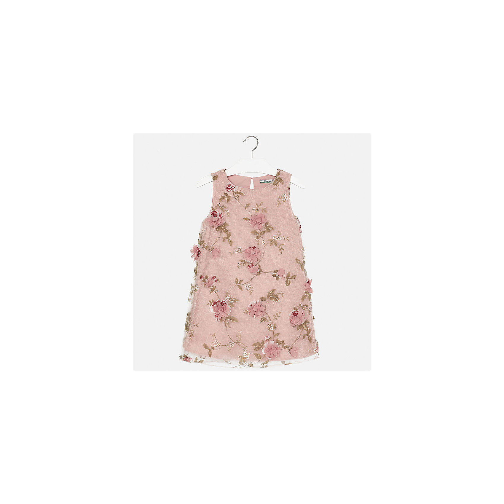 Платье для девочки MayoralОдежда<br>Характеристики товара:<br><br>• цвет: розовый<br>• состав: 50% полиэстер, 43% полиамид, 7% металлическая нить, подкладка - 80% полиэстер, 20% хлопок<br>• застежка: пуговица<br>• прямой силуэт<br>• без рукавов<br>• с подкладкой<br>• страна бренда: Испания<br><br>Нарядное платье для девочки поможет разнообразить гардероб ребенка и создать эффектный наряд. Оно подойдет для различных случаев. Красивый оттенок позволяет подобрать к вещи обувь разных расцветок. Платье хорошо сидит по фигуре.<br><br>Одежда, обувь и аксессуары от испанского бренда Mayoral полюбились детям и взрослым по всему миру. Модели этой марки - стильные и удобные. Для их производства используются только безопасные, качественные материалы и фурнитура. Порадуйте ребенка модными и красивыми вещами от Mayoral! <br><br>Платье для девочки от испанского бренда Mayoral (Майорал) можно купить в нашем интернет-магазине.<br><br>Ширина мм: 236<br>Глубина мм: 16<br>Высота мм: 184<br>Вес г: 177<br>Цвет: розовый<br>Возраст от месяцев: 108<br>Возраст до месяцев: 120<br>Пол: Женский<br>Возраст: Детский<br>Размер: 140,164,128/134,152,158<br>SKU: 5293225