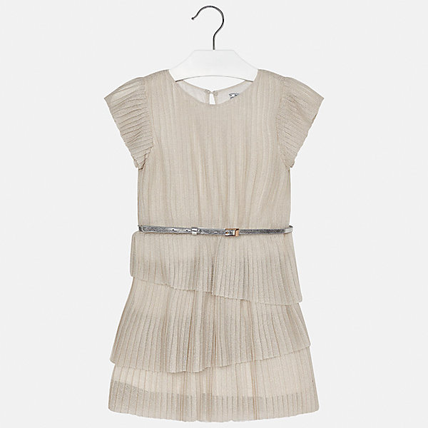 Платье для девочки MayoralПлатья и сарафаны<br>Характеристики товара:<br><br>• цвет: бежевый<br>• состав: 90% полиамид, 10% металлическая нить, подкладка - 100% вискоза<br>• застежка: пуговица<br>• плиссированное<br>• ремень на талии<br>• короткие рукава<br>• с подкладкой<br>• страна бренда: Испания<br><br>Модное эффектное платье для девочки поможет разнообразить гардероб ребенка и создать эффектный наряд. Оно подойдет для различных случаев.Платье хорошо сидит по фигуре.<br><br>Платье для девочки от испанского бренда Mayoral (Майорал) можно купить в нашем интернет-магазине.<br><br>Ширина мм: 236<br>Глубина мм: 16<br>Высота мм: 184<br>Вес г: 177<br>Цвет: бежевый<br>Возраст от месяцев: 84<br>Возраст до месяцев: 96<br>Пол: Женский<br>Возраст: Детский<br>Размер: 128/134,170,140,152,158,164<br>SKU: 5293244