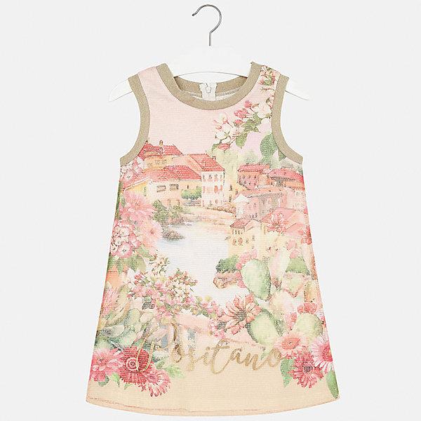 Платье для девочки MayoralПлатья и сарафаны<br>Характеристики товара:<br><br>• цвет: персиковый<br>• состав: 100% полиэстер, подкладка - 40% полиэстер, 55% хлопок, 5% эластан<br>• застежка: молния<br>• прямой силуэт<br>• без рукавов<br>• с подкладкой<br>• страна бренда: Испания<br><br>Нарядное платье для девочки поможет разнообразить гардероб ребенка и создать эффектный наряд. Оно подойдет для различных случаев. Красивый оттенок позволяет подобрать к вещи обувь разных расцветок. Платье хорошо сидит по фигуре.<br><br>Одежда, обувь и аксессуары от испанского бренда Mayoral полюбились детям и взрослым по всему миру. Модели этой марки - стильные и удобные. Для их производства используются только безопасные, качественные материалы и фурнитура. Порадуйте ребенка модными и красивыми вещами от Mayoral! <br><br>Платье для девочки от испанского бренда Mayoral (Майорал) можно купить в нашем интернет-магазине.<br><br>Ширина мм: 236<br>Глубина мм: 16<br>Высота мм: 184<br>Вес г: 177<br>Цвет: оранжевый<br>Возраст от месяцев: 84<br>Возраст до месяцев: 96<br>Пол: Женский<br>Возраст: Детский<br>Размер: 128/134,164,140,152,158<br>SKU: 5293257
