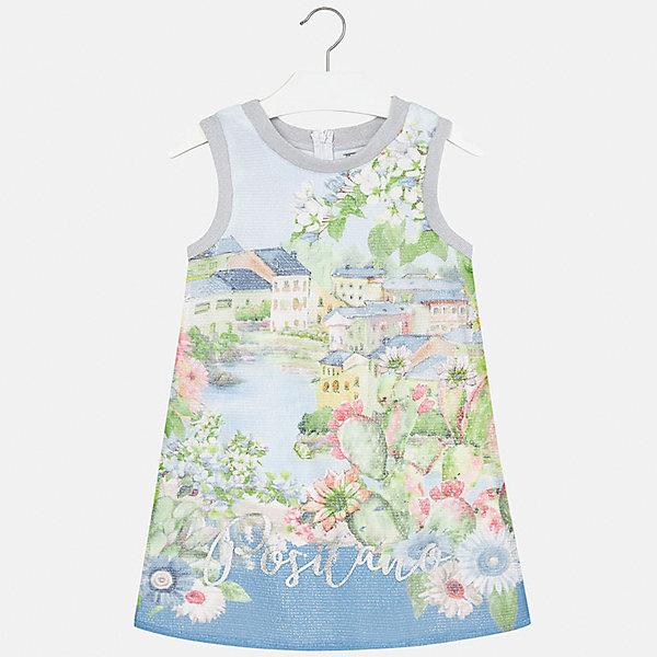 Платье для девочки MayoralПлатья и сарафаны<br>Характеристики товара:<br><br>• цвет: голубой<br>• состав: 100% полиэстер, подкладка - 40% полиэстер, 55% хлопок, 5% эластан<br>• застежка: молния<br>• прямой силуэт<br>• без рукавов<br>• с подкладкой<br>• страна бренда: Испания<br><br>Нарядное платье для девочки поможет разнообразить гардероб ребенка и создать эффектный наряд. Оно подойдет для различных случаев. Красивый оттенок позволяет подобрать к вещи обувь разных расцветок. Платье хорошо сидит по фигуре.<br><br>Одежда, обувь и аксессуары от испанского бренда Mayoral полюбились детям и взрослым по всему миру. Модели этой марки - стильные и удобные. Для их производства используются только безопасные, качественные материалы и фурнитура. Порадуйте ребенка модными и красивыми вещами от Mayoral! <br><br>Платье для девочки от испанского бренда Mayoral (Майорал) можно купить в нашем интернет-магазине.<br><br>Ширина мм: 236<br>Глубина мм: 16<br>Высота мм: 184<br>Вес г: 177<br>Цвет: голубой<br>Возраст от месяцев: 108<br>Возраст до месяцев: 120<br>Пол: Женский<br>Возраст: Детский<br>Размер: 140,164,128/134,152,158<br>SKU: 5293263