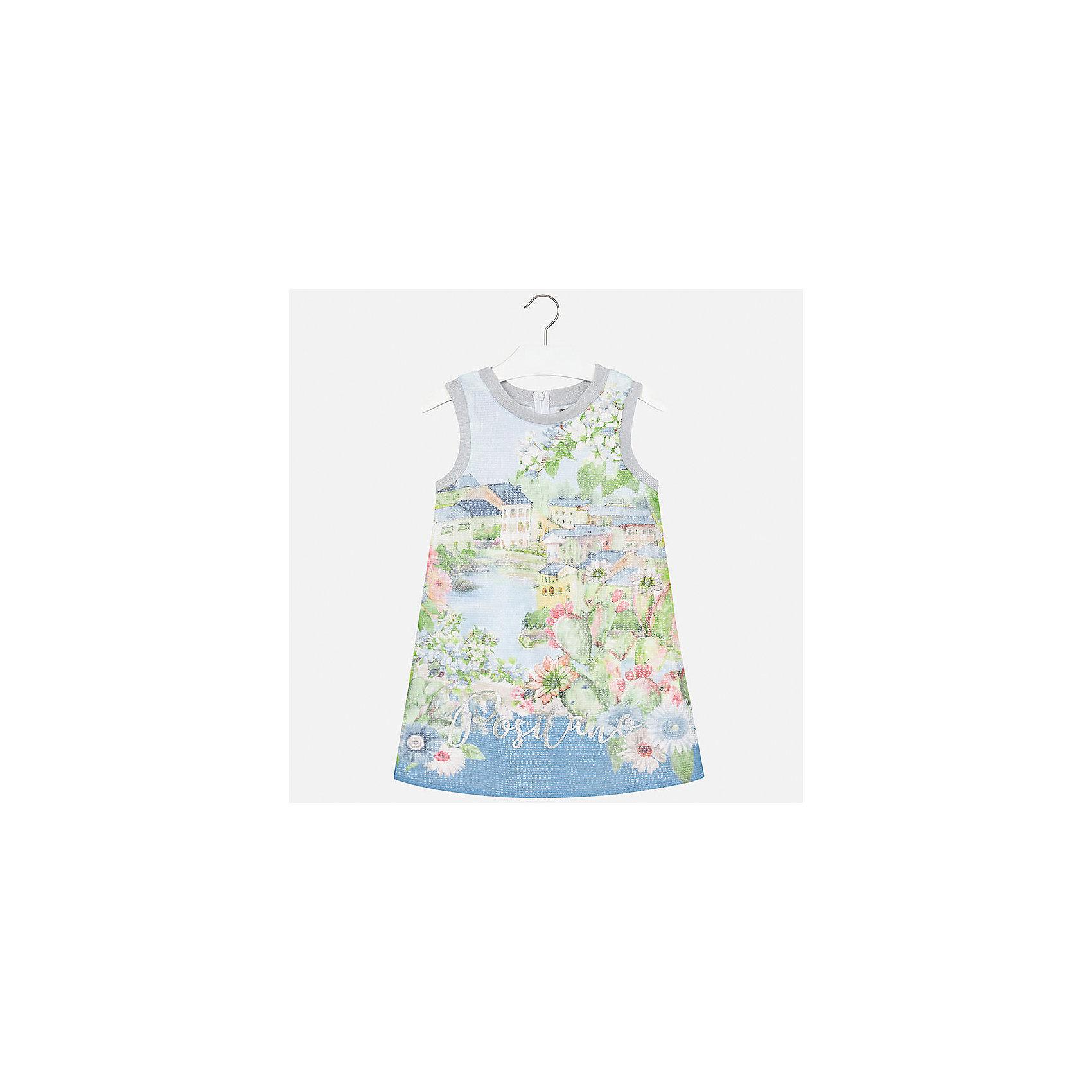 Платье для девочки MayoralХарактеристики товара:<br><br>• цвет: голубой<br>• состав: 100% полиэстер, подкладка - 40% полиэстер, 55% хлопок, 5% эластан<br>• застежка: молния<br>• прямой силуэт<br>• без рукавов<br>• с подкладкой<br>• страна бренда: Испания<br><br>Нарядное платье для девочки поможет разнообразить гардероб ребенка и создать эффектный наряд. Оно подойдет для различных случаев. Красивый оттенок позволяет подобрать к вещи обувь разных расцветок. Платье хорошо сидит по фигуре.<br><br>Одежда, обувь и аксессуары от испанского бренда Mayoral полюбились детям и взрослым по всему миру. Модели этой марки - стильные и удобные. Для их производства используются только безопасные, качественные материалы и фурнитура. Порадуйте ребенка модными и красивыми вещами от Mayoral! <br><br>Платье для девочки от испанского бренда Mayoral (Майорал) можно купить в нашем интернет-магазине.<br><br>Ширина мм: 236<br>Глубина мм: 16<br>Высота мм: 184<br>Вес г: 177<br>Цвет: голубой<br>Возраст от месяцев: 156<br>Возраст до месяцев: 168<br>Пол: Женский<br>Возраст: Детский<br>Размер: 164,140,128/134,152,158<br>SKU: 5293263